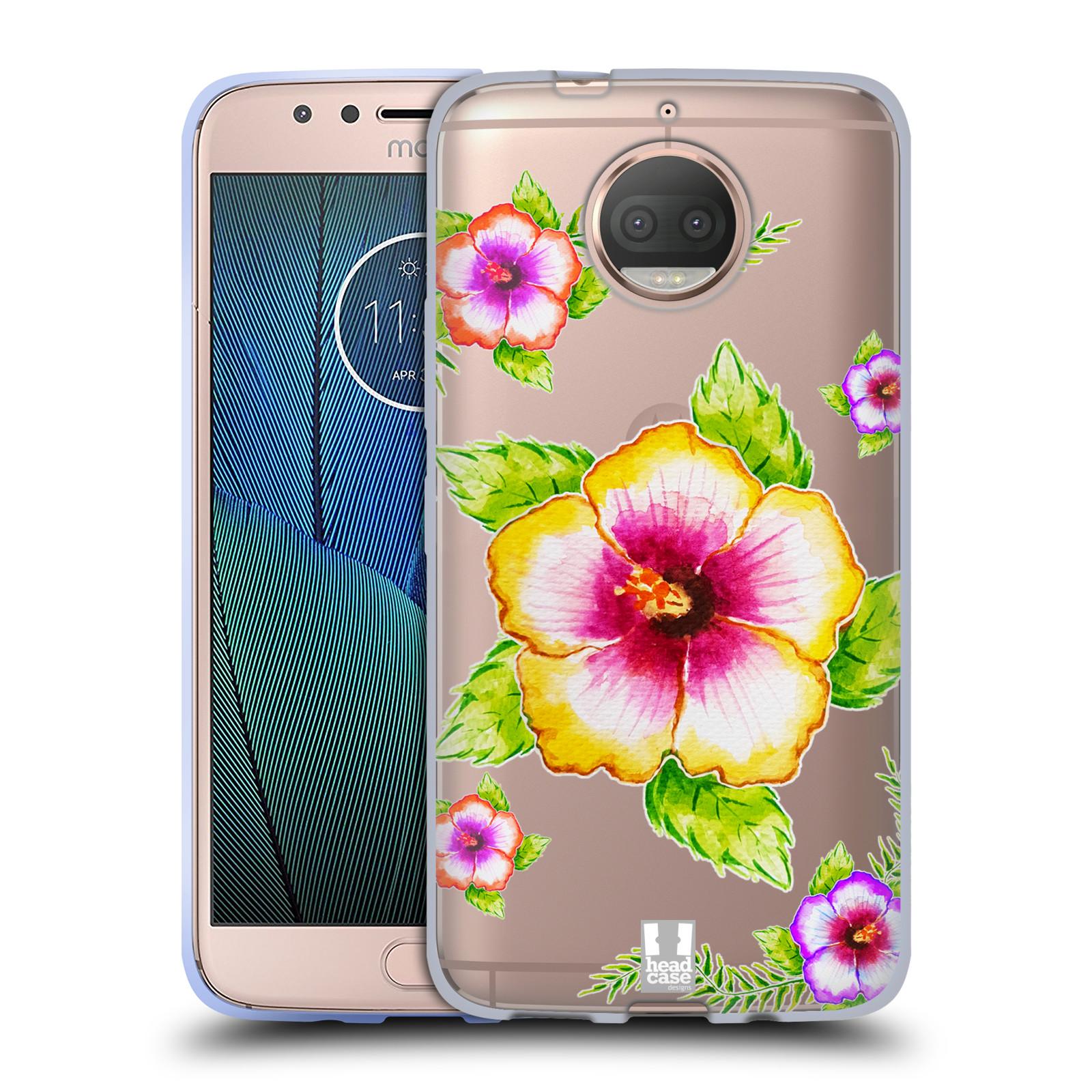 HEAD CASE silikonový obal na mobil Lenovo Moto G5s PLUS Květina Ibišek vodní barvy