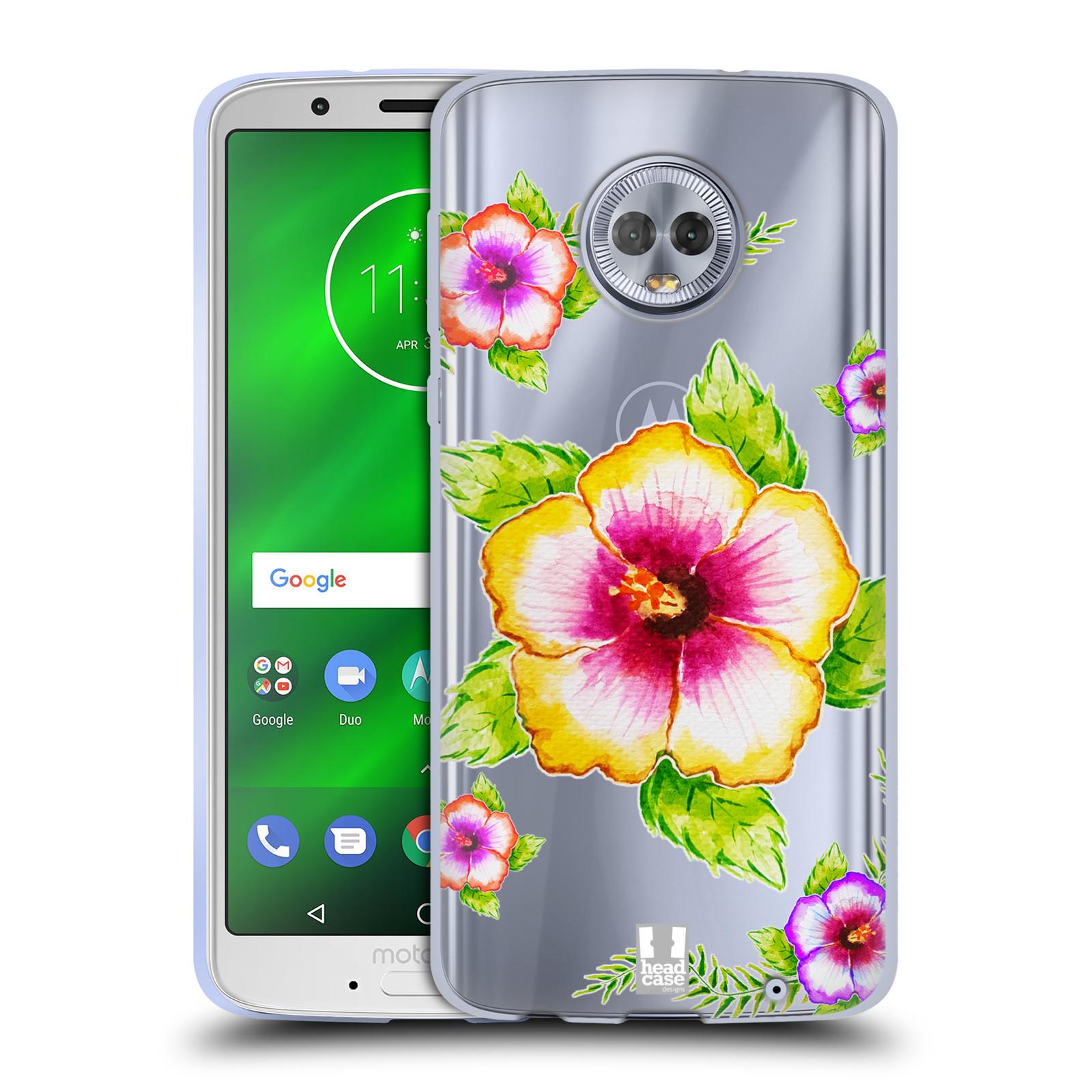 a2e1bcf78 HEAD CASE silikonový obal na mobil Lenovo Moto G6 PLUS Květina Ibišek vodní  barvy