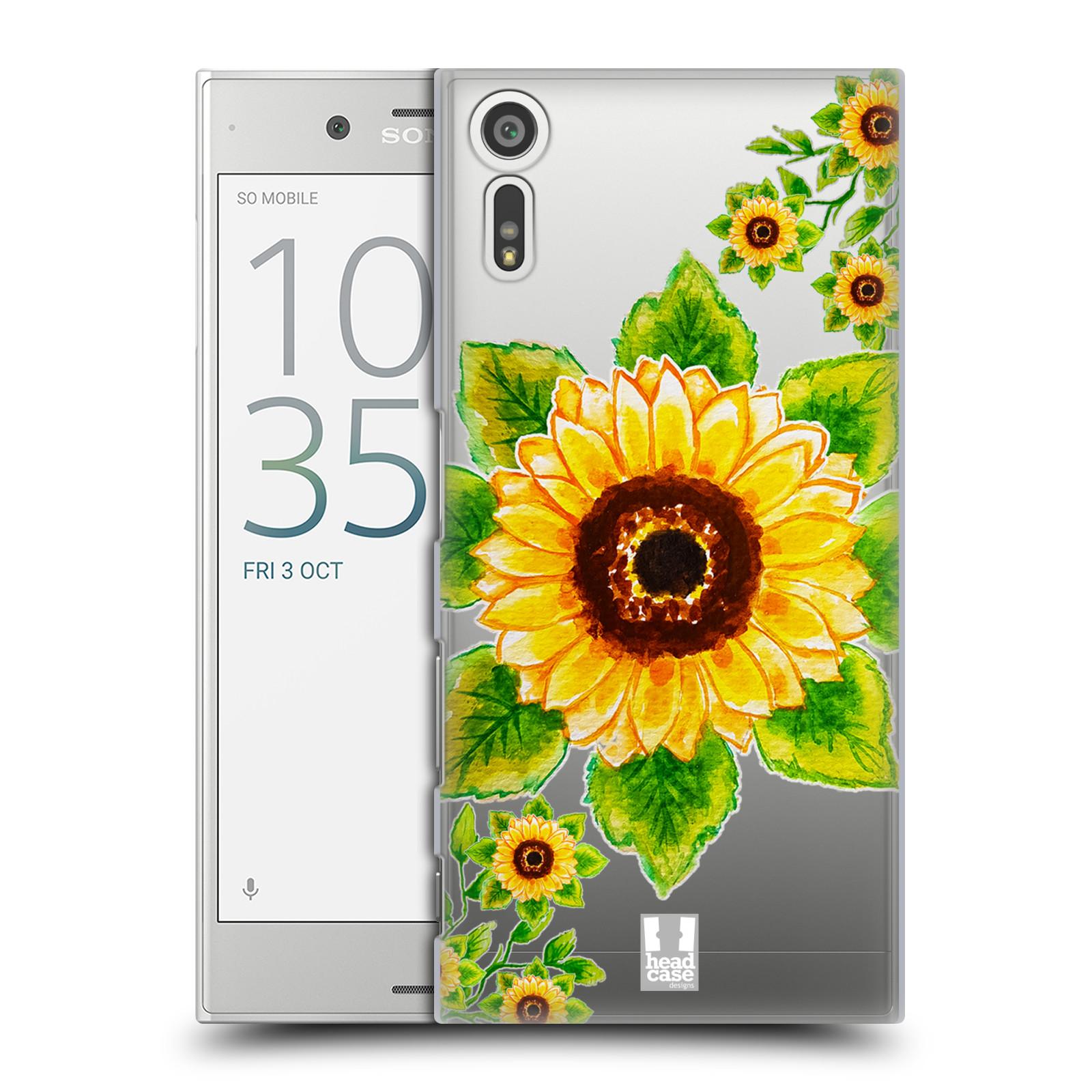 HEAD CASE plastový obal na mobil Sony Xperia XZ Květina Slunečnice vodní barvy