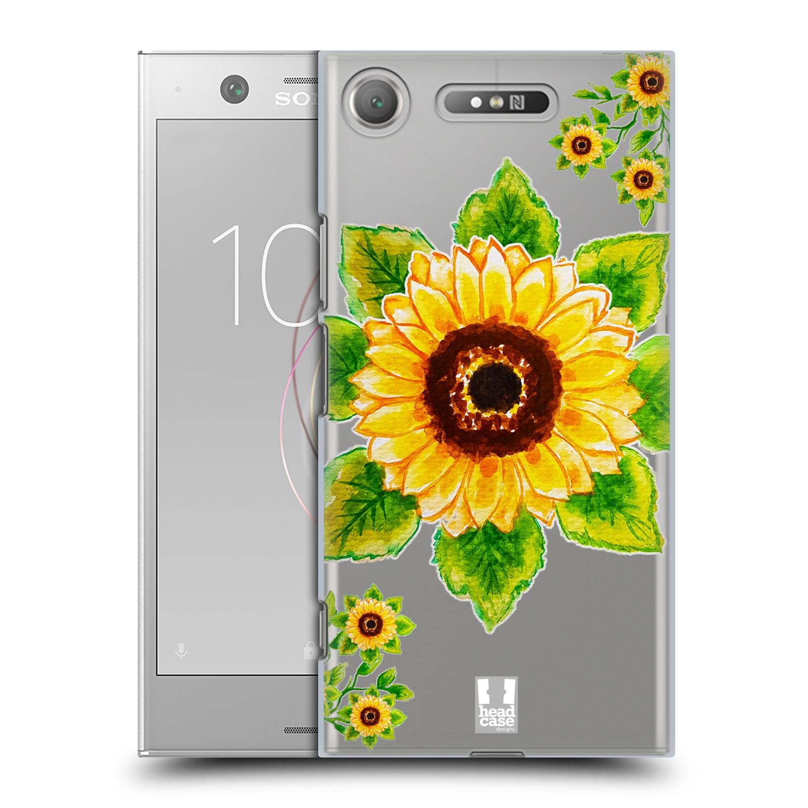 HEAD CASE plastový obal na mobil Sony Xperia XZ1 Květina Slunečnice vodní barvy