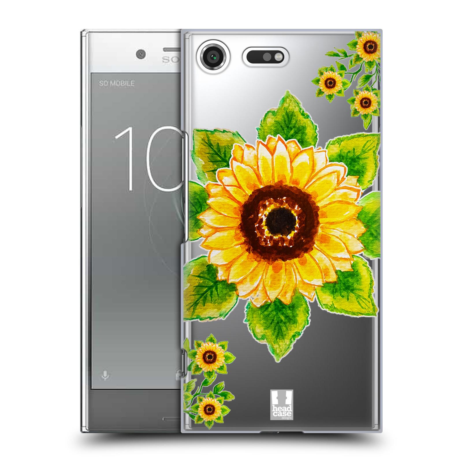 HEAD CASE plastový obal na mobil Sony Xperia XZ PREMIUM Květina Slunečnice vodní barvy