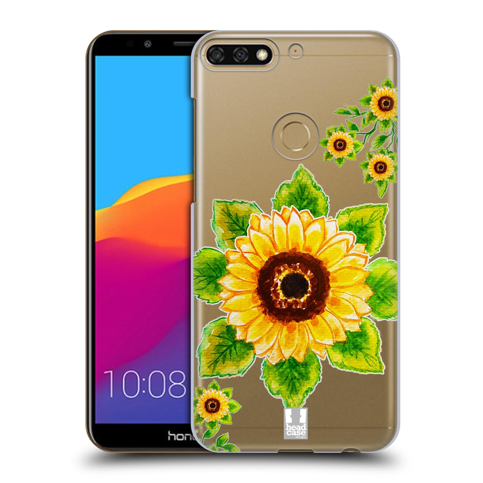HEAD CASE plastový obal na mobil Honor 7c Květina Slunečnice vodní barvy
