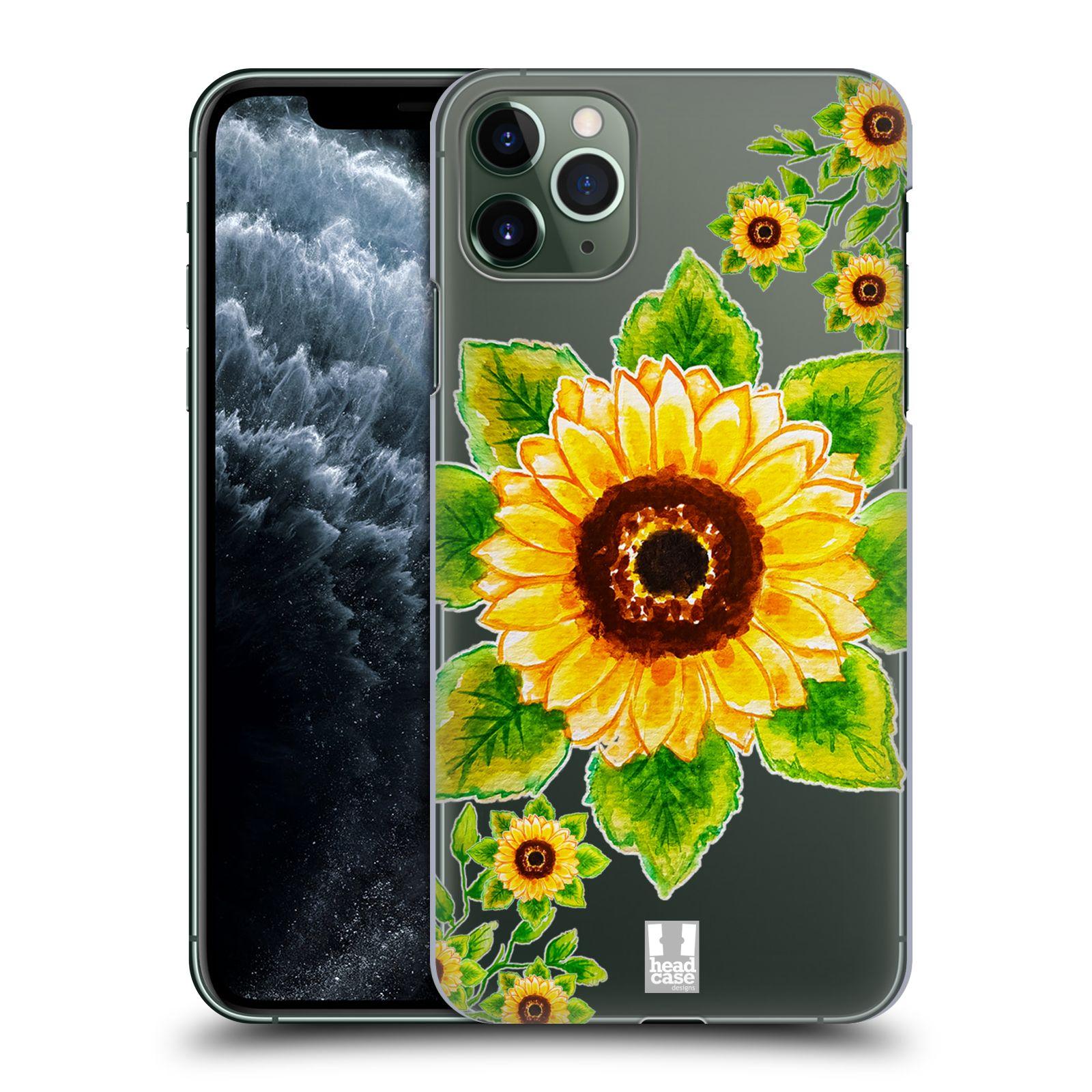 Pouzdro na mobil Apple Iphone 11 PRO MAX - HEAD CASE - Květina Slunečnice vodní barvy