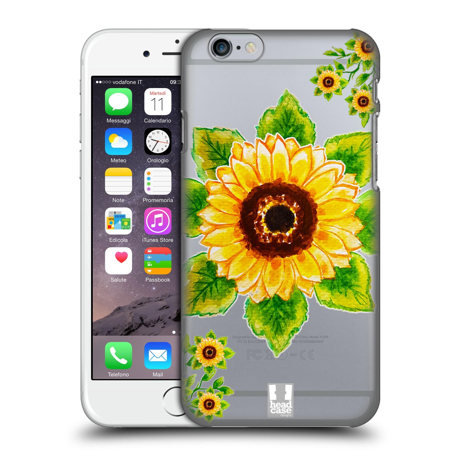 Plastové pouzdro pro mobil Apple Iphone 6/6S Květina Slunečnice vodní barvy