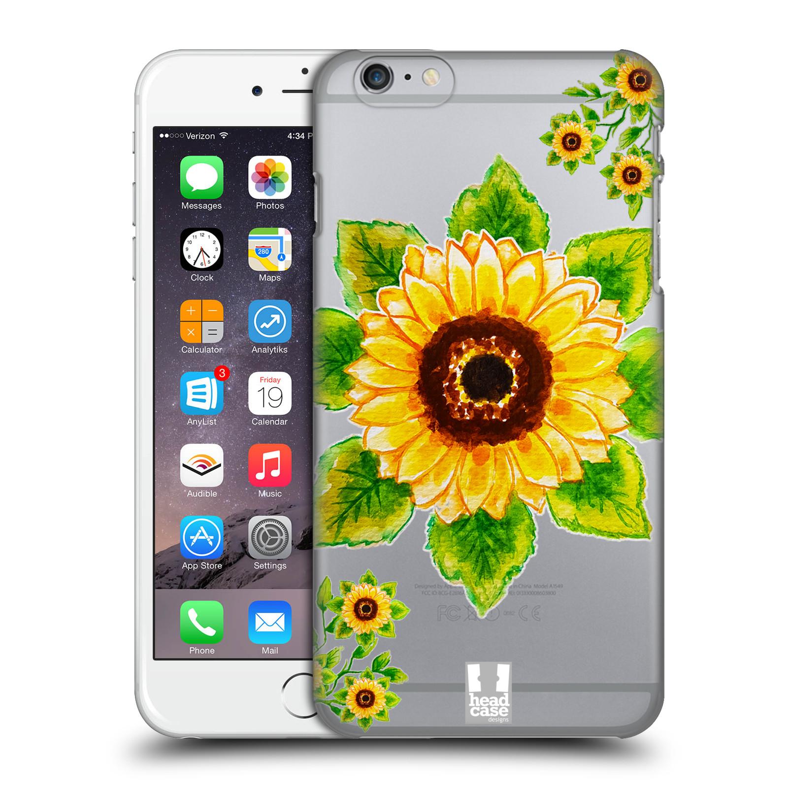 Plastové pouzdro pro mobil Apple Iphone 6 PLUS / 6S PLUS Květina Slunečnice vodní barvy