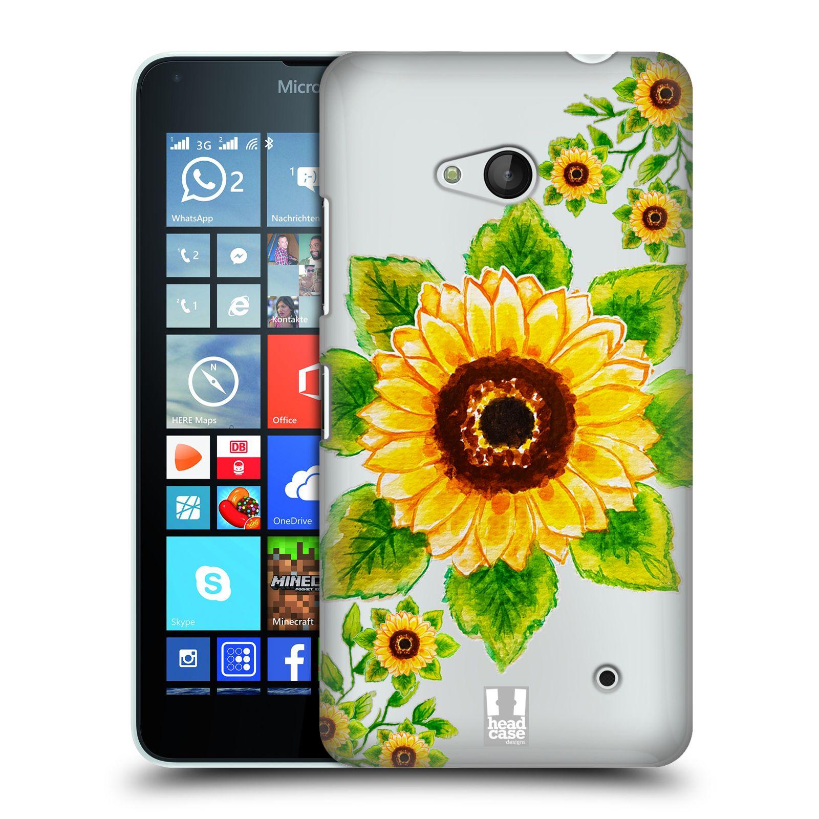 HEAD CASE plastový obal na mobil Nokia Lumia 640 Květina Slunečnice vodní barvy