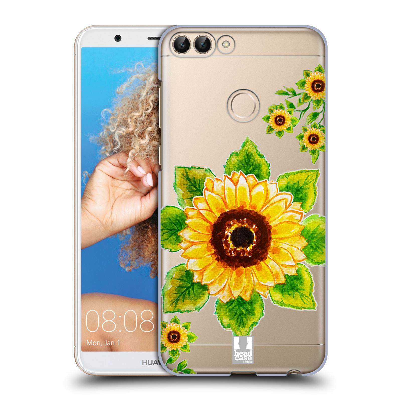 HEAD CASE plastový obal na mobil Huawei P Smart Květina Slunečnice vodní barvy