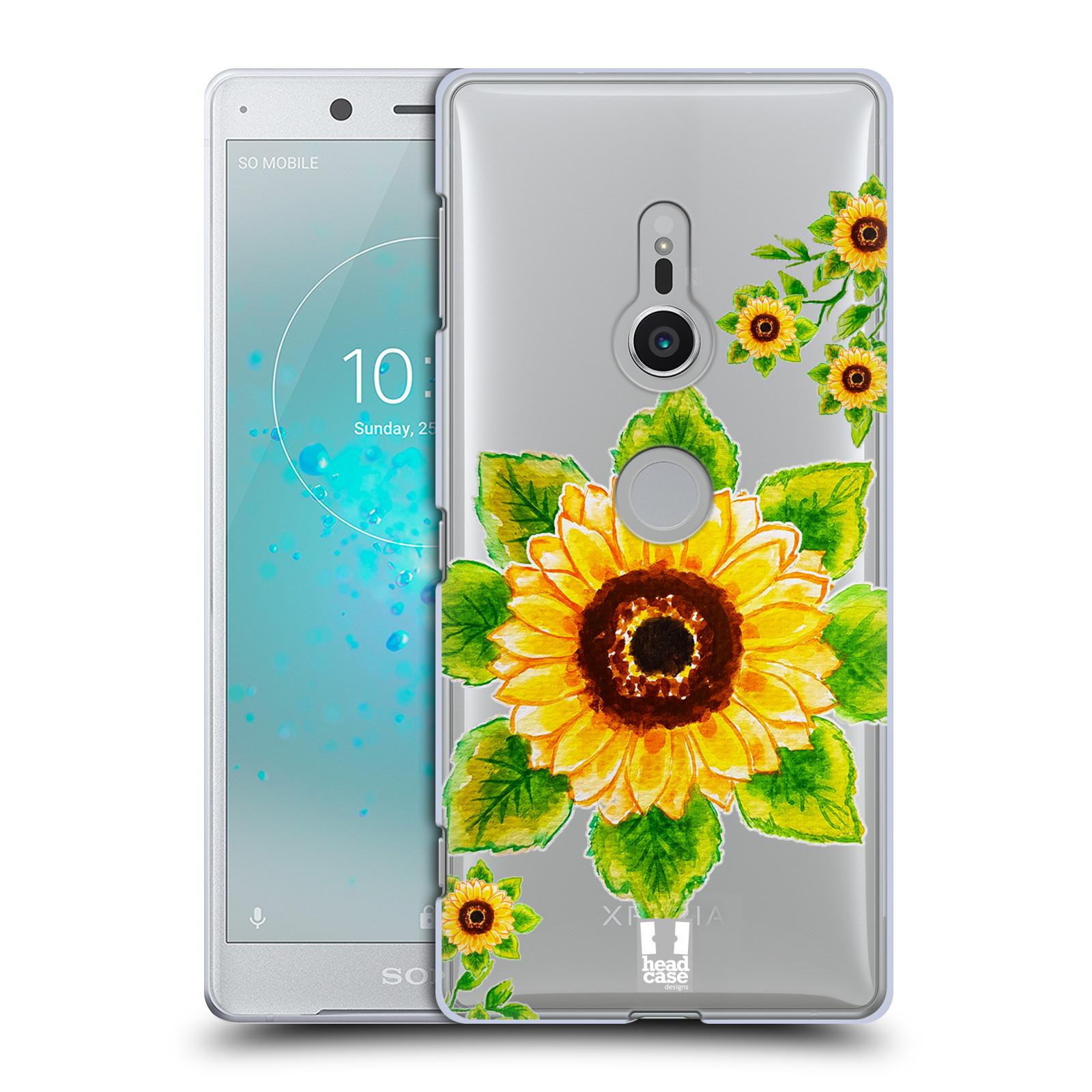 HEAD CASE plastový obal na mobil Sony Xperia XZ2 Květina Slunečnice vodní barvy