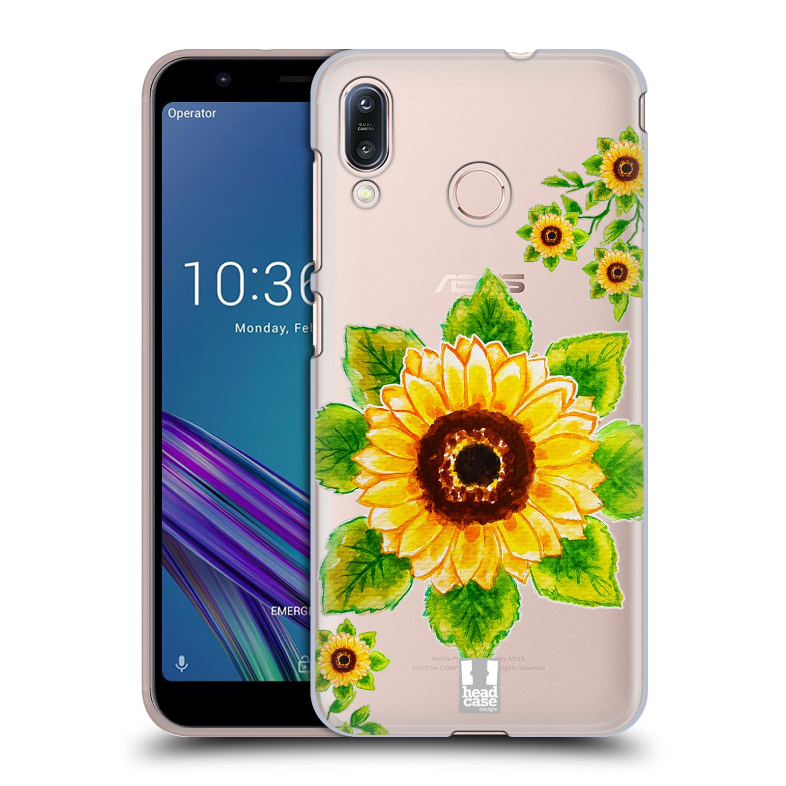Pouzdro na mobil Asus Zenfone Max M1 (ZB555KL) - HEAD CASE - Květina Slunečnice vodní barvy