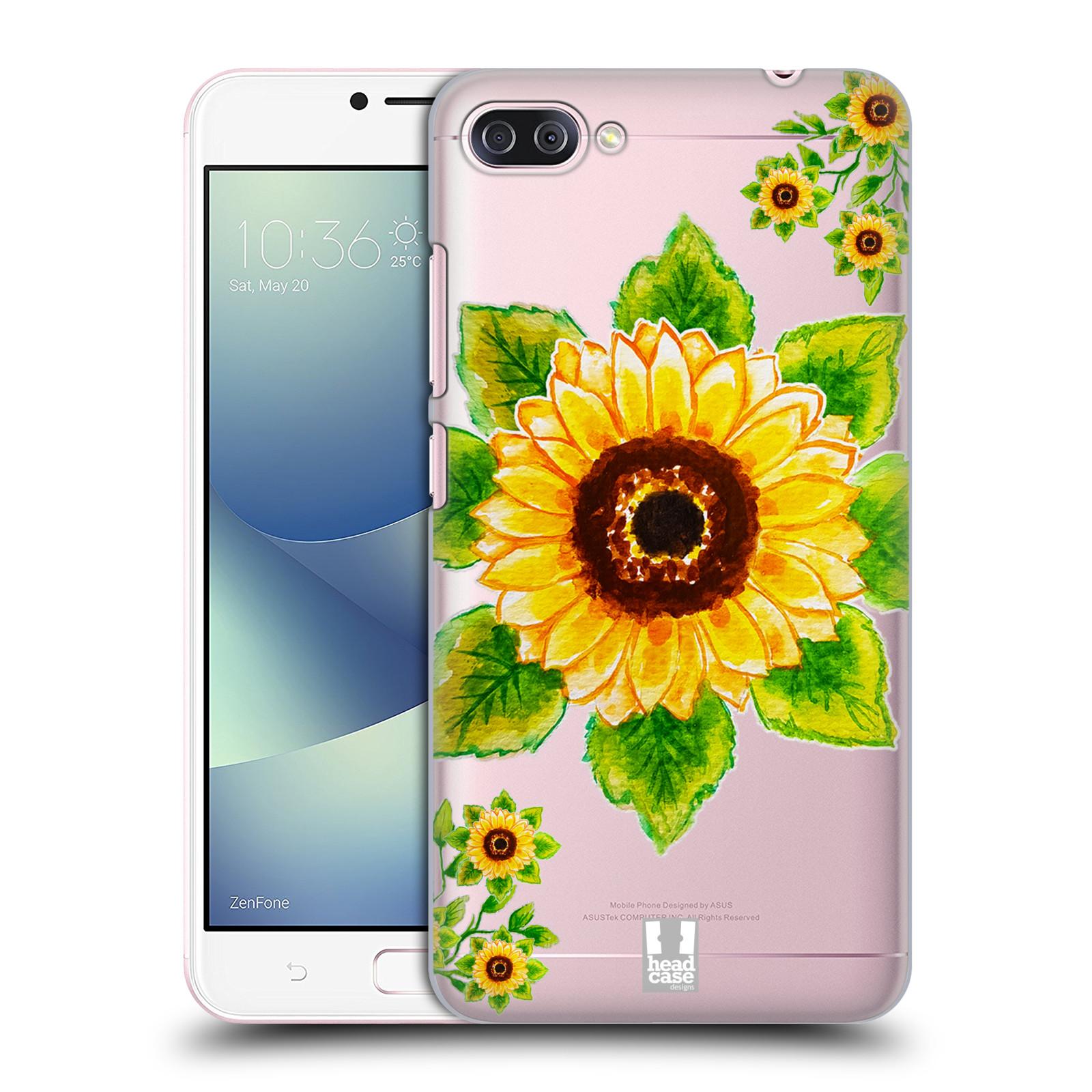 HEAD CASE plastový obal na mobil Asus Zenfone 4 MAX ZC554KL Květina Slunečnice vodní barvy