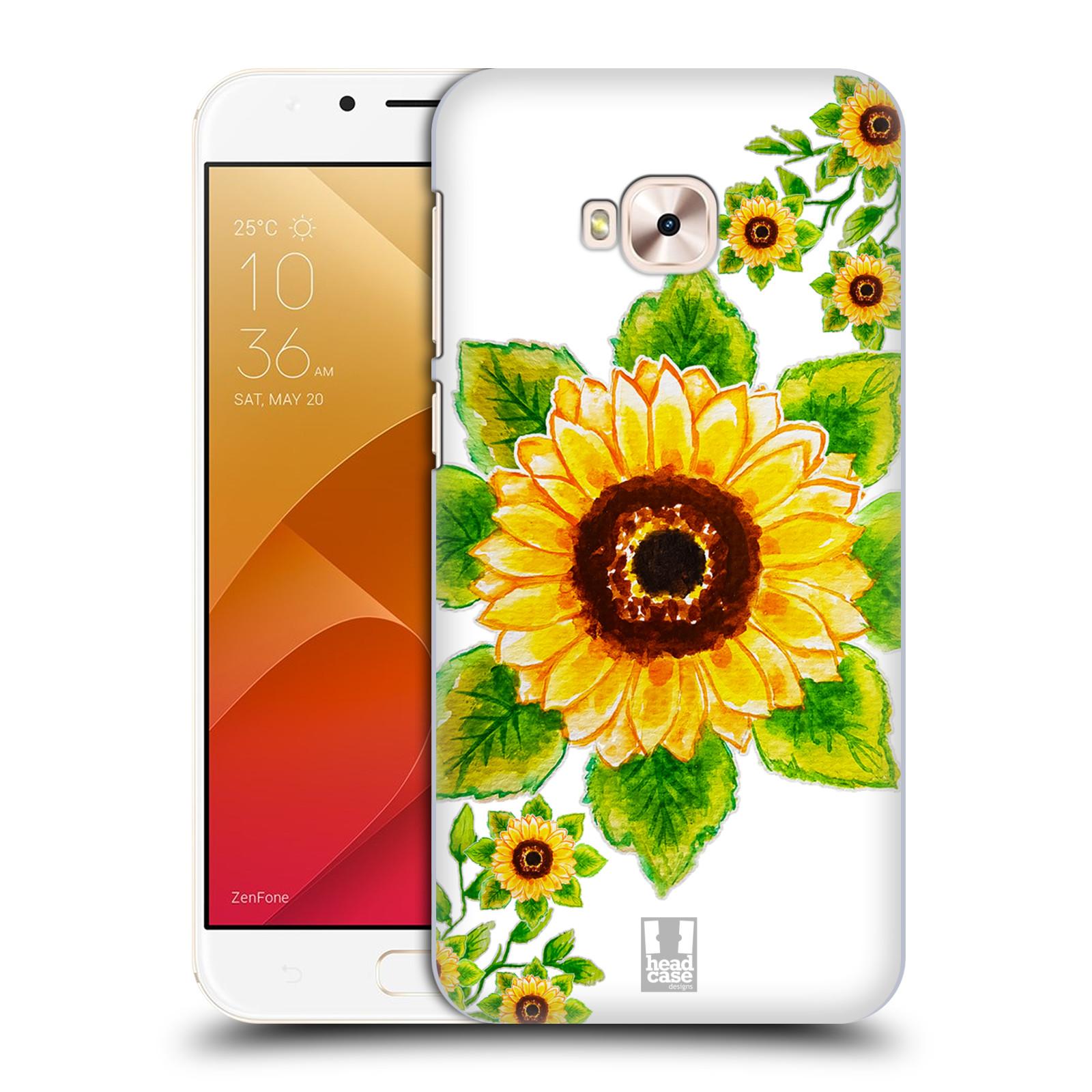 HEAD CASE plastový obal na mobil Asus Zenfone 4 Selfie Pro ZD552KL Květina Slunečnice vodní barvy
