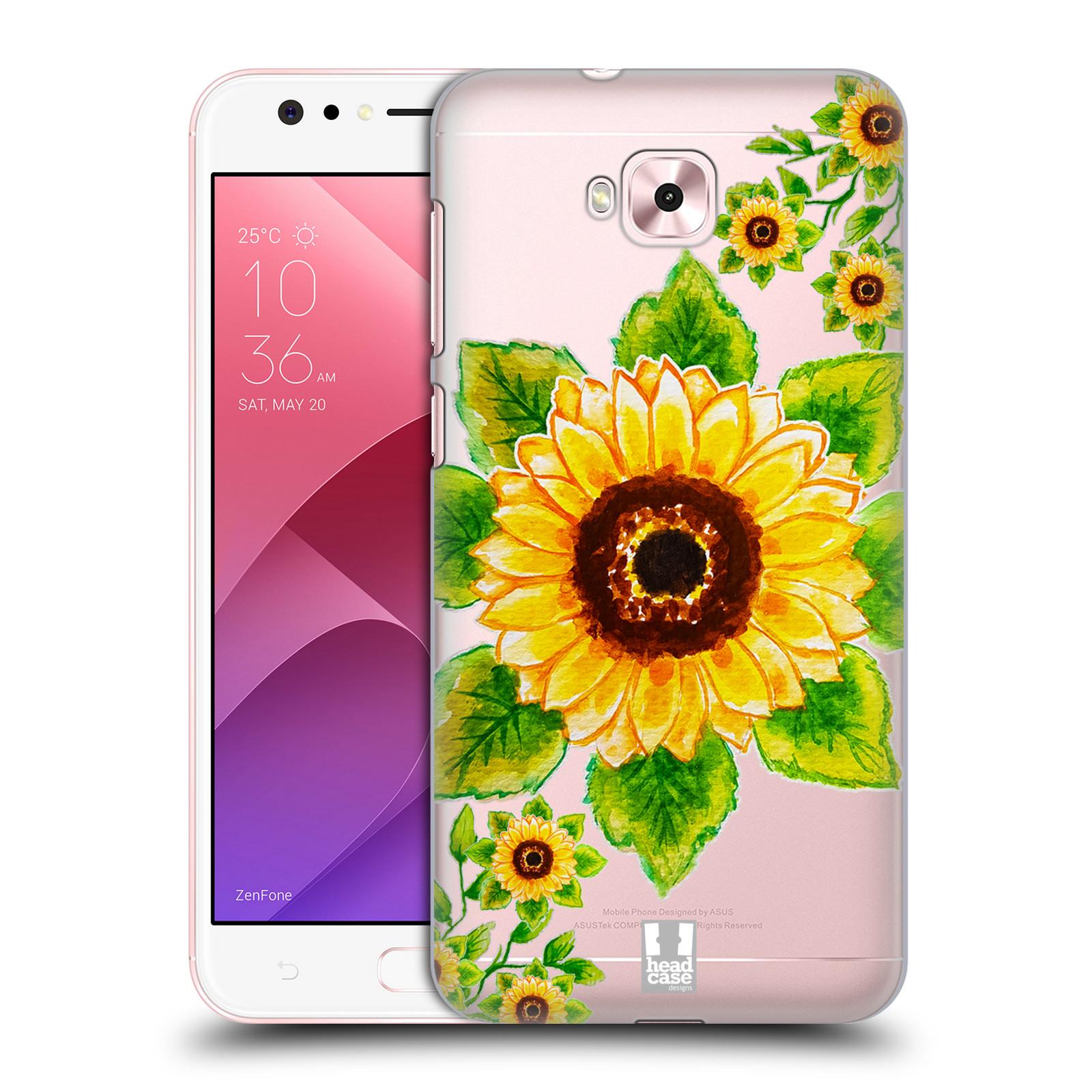 HEAD CASE plastový obal na mobil Asus Zenfone 4 Selfie ZD553KL Květina Slunečnice vodní barvy
