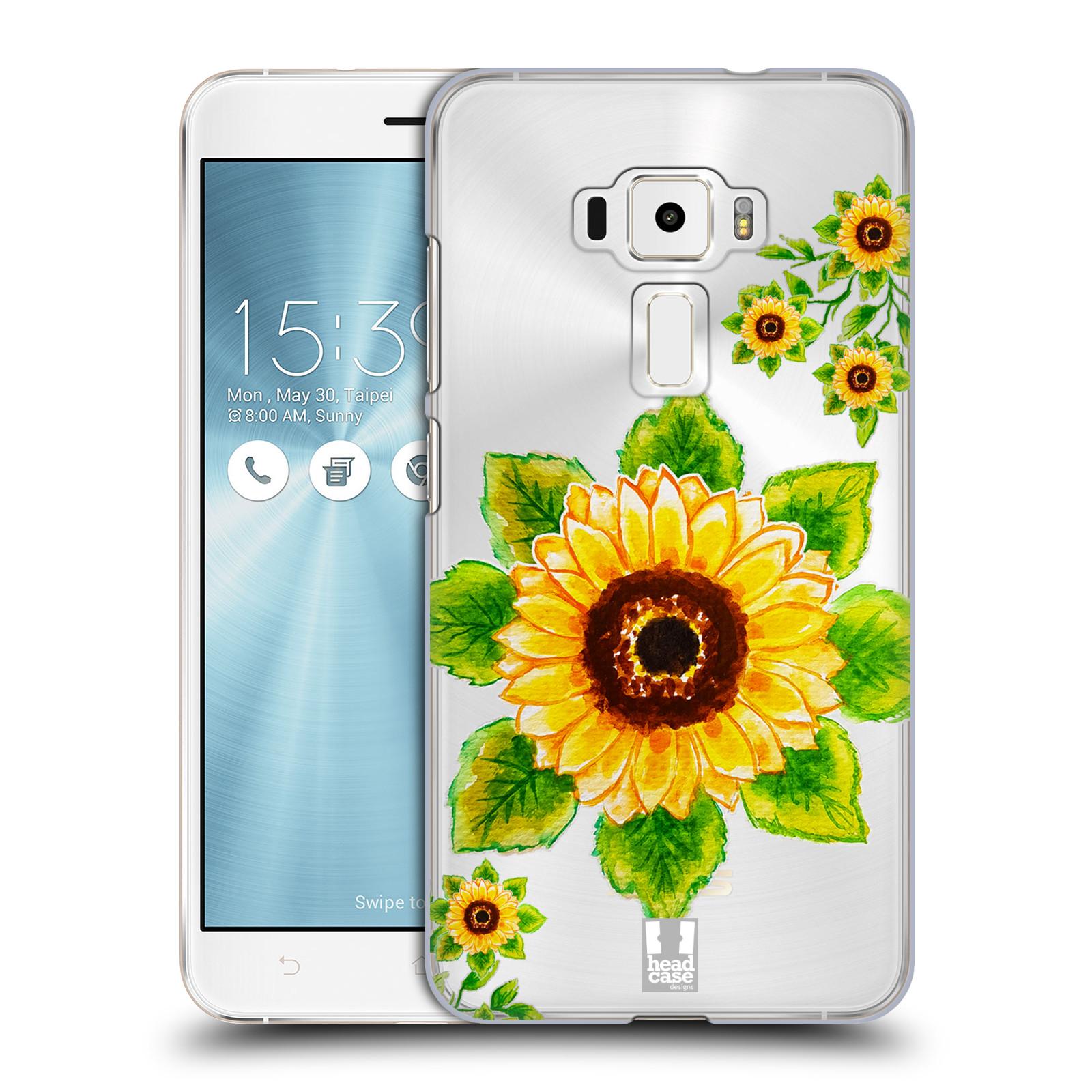 HEAD CASE plastový obal na mobil Asus Zenfone 3 ZE552KL Květina Slunečnice vodní barvy