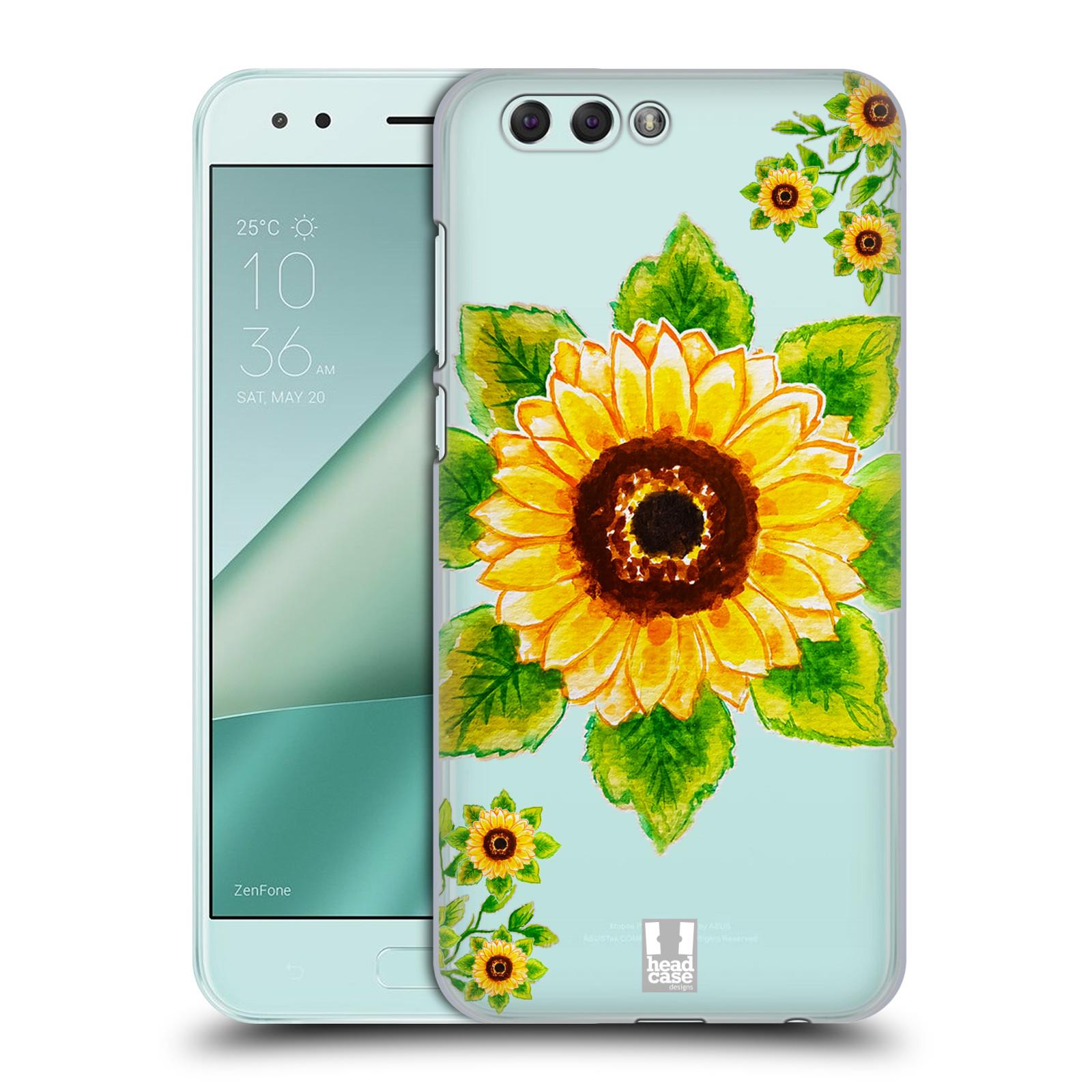 HEAD CASE plastový obal na mobil Asus Zenfone 4 ZE554KL Květina Slunečnice vodní barvy