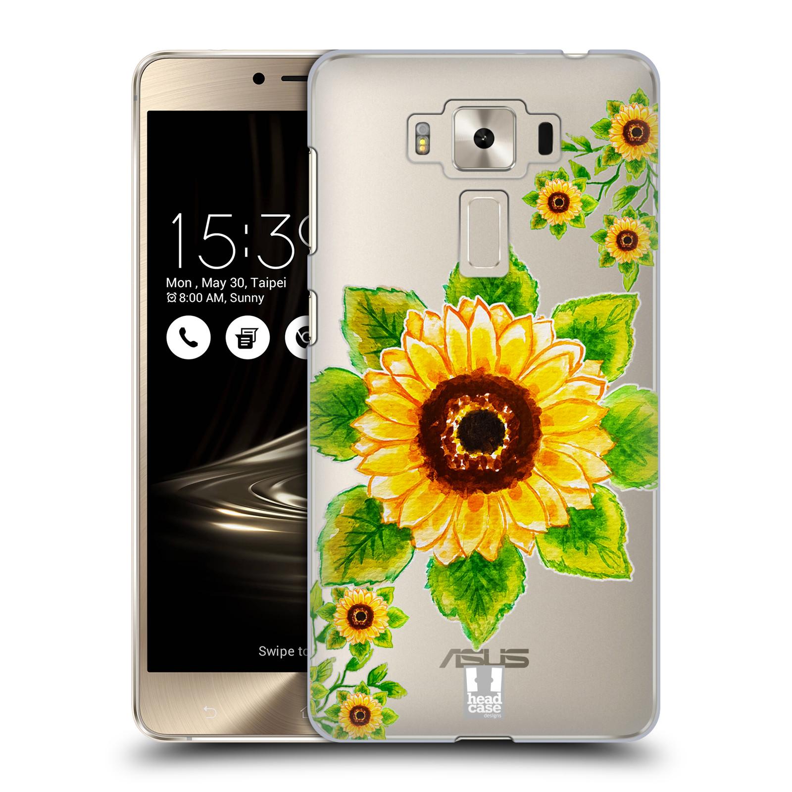 HEAD CASE plastový obal na mobil Asus Zenfone 3 DELUXE ZS550KL Květina Slunečnice vodní barvy