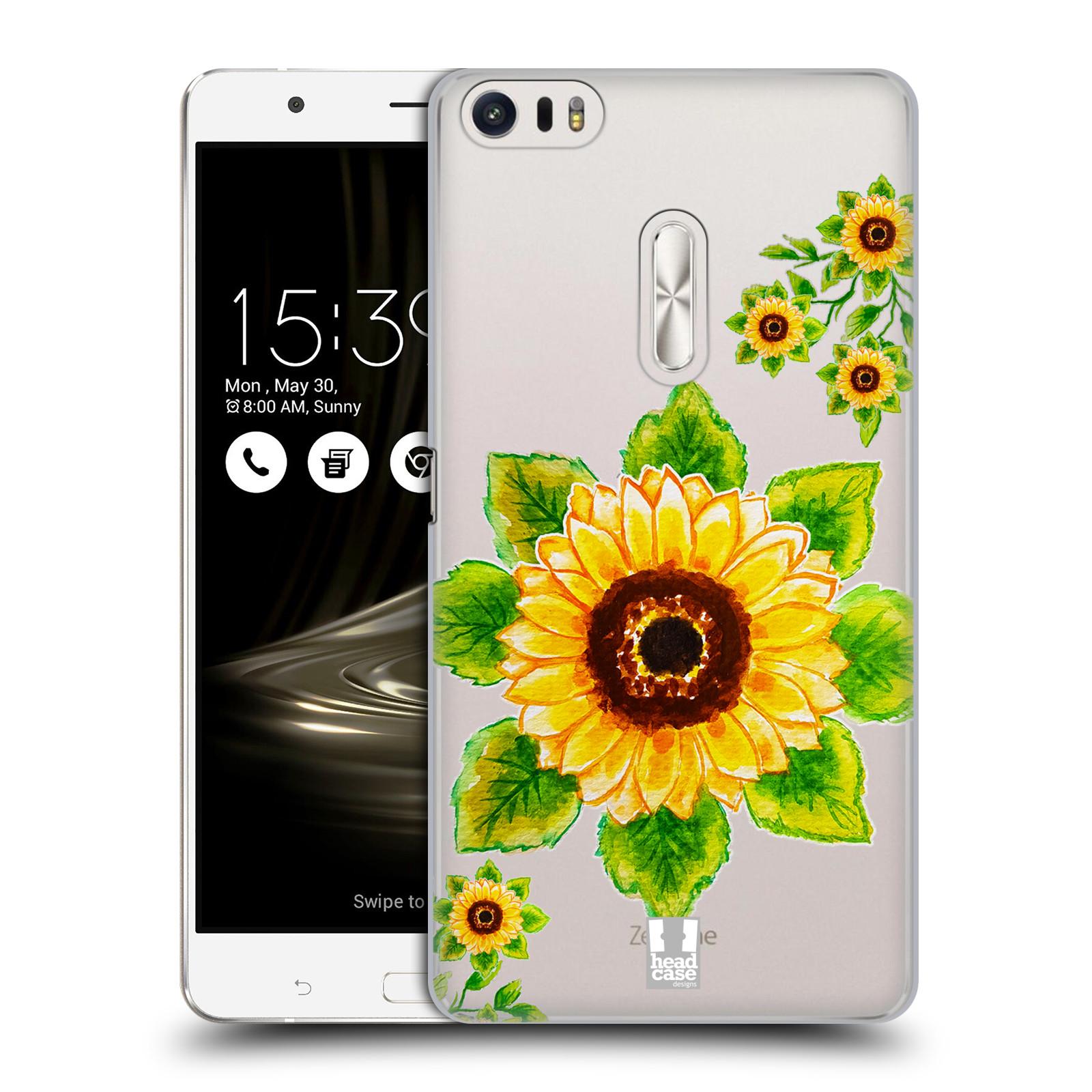 HEAD CASE plastový obal na mobil Asus Zenfone 3 Ultra ZU680KL Květina Slunečnice vodní barvy