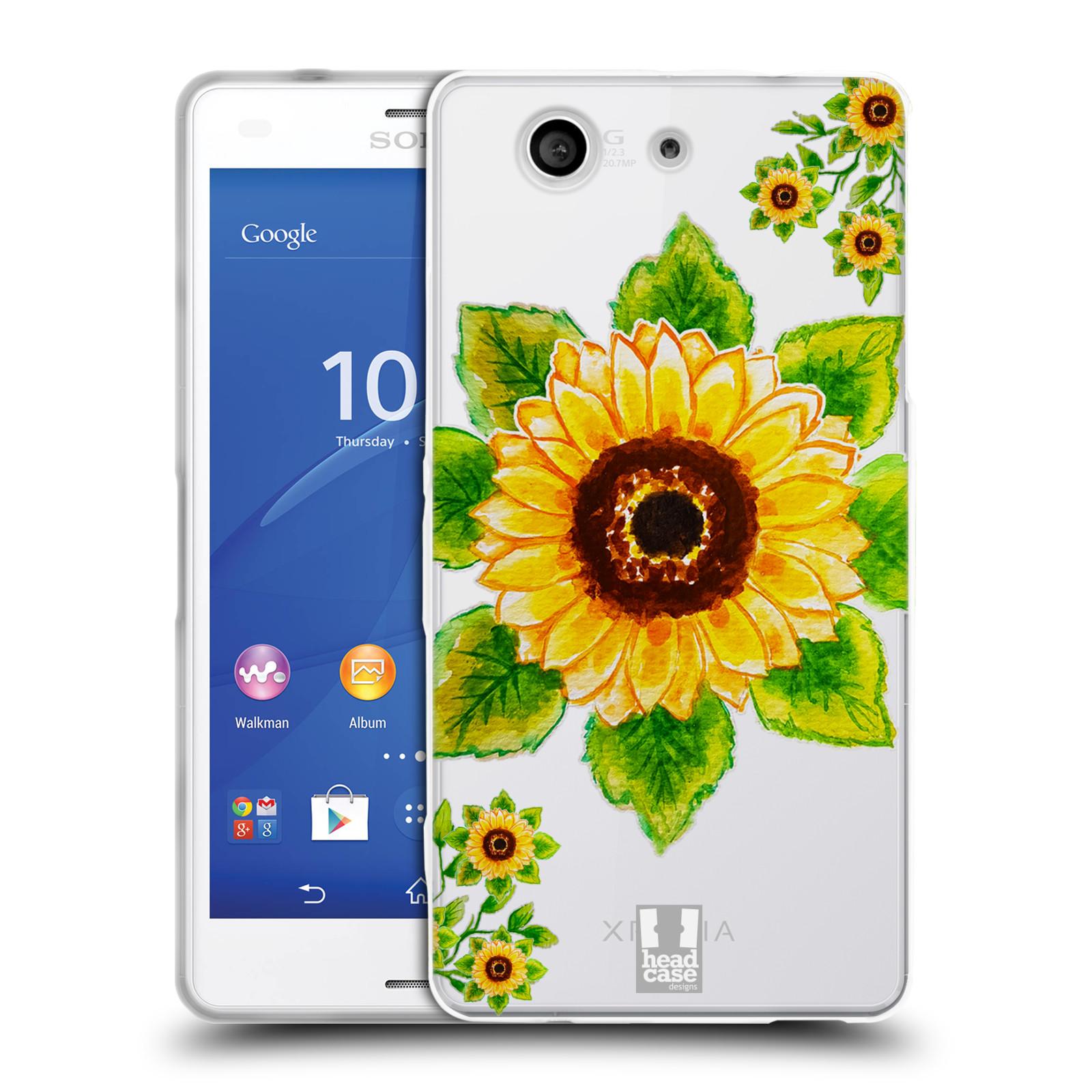 HEAD CASE silikonový obal na mobil Sony Xperia Z3 COMPACT Květina Slunečnice vodní barvy