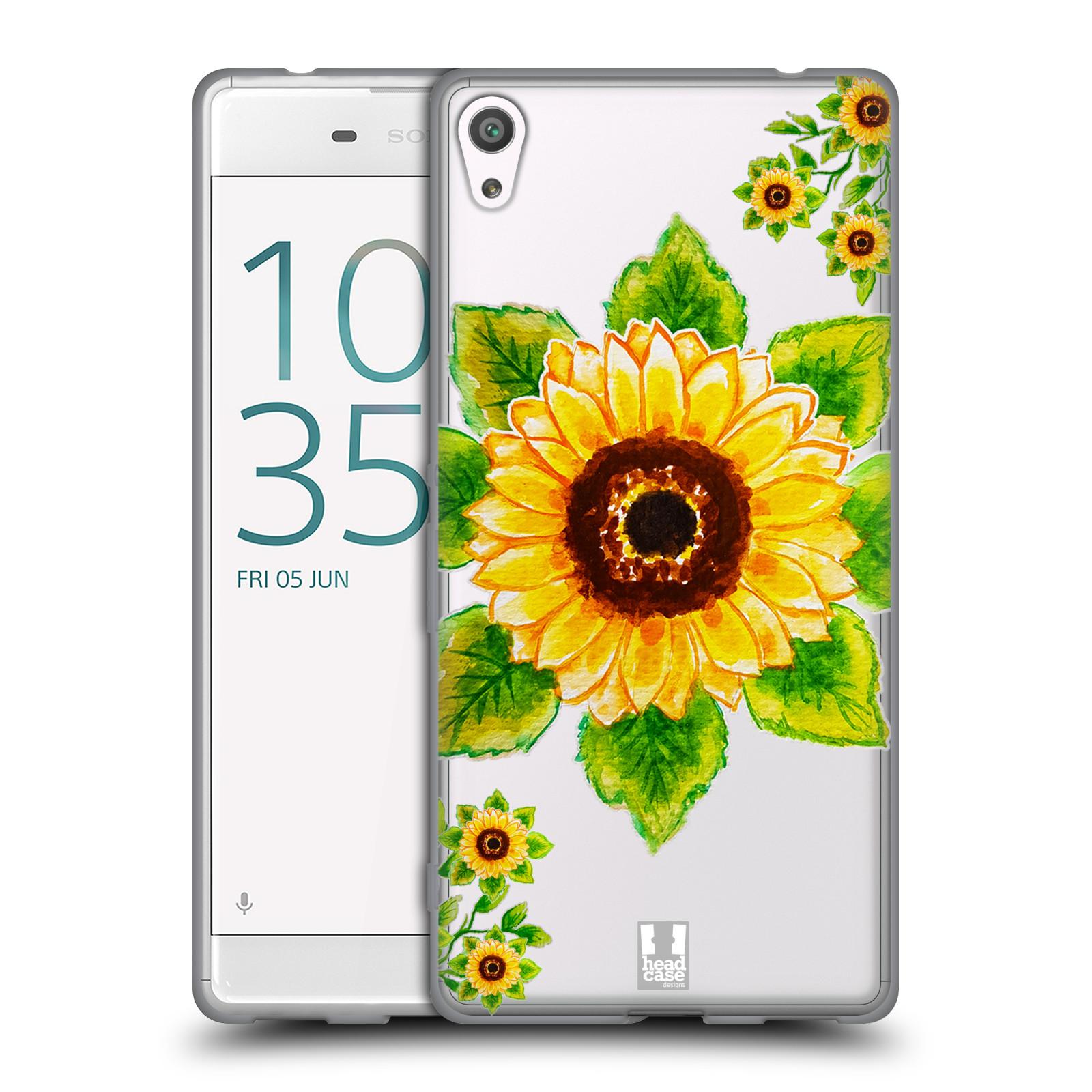 HEAD CASE silikonový obal na mobil Sony Xperia XA ULTRA Květina Slunečnice vodní barvy