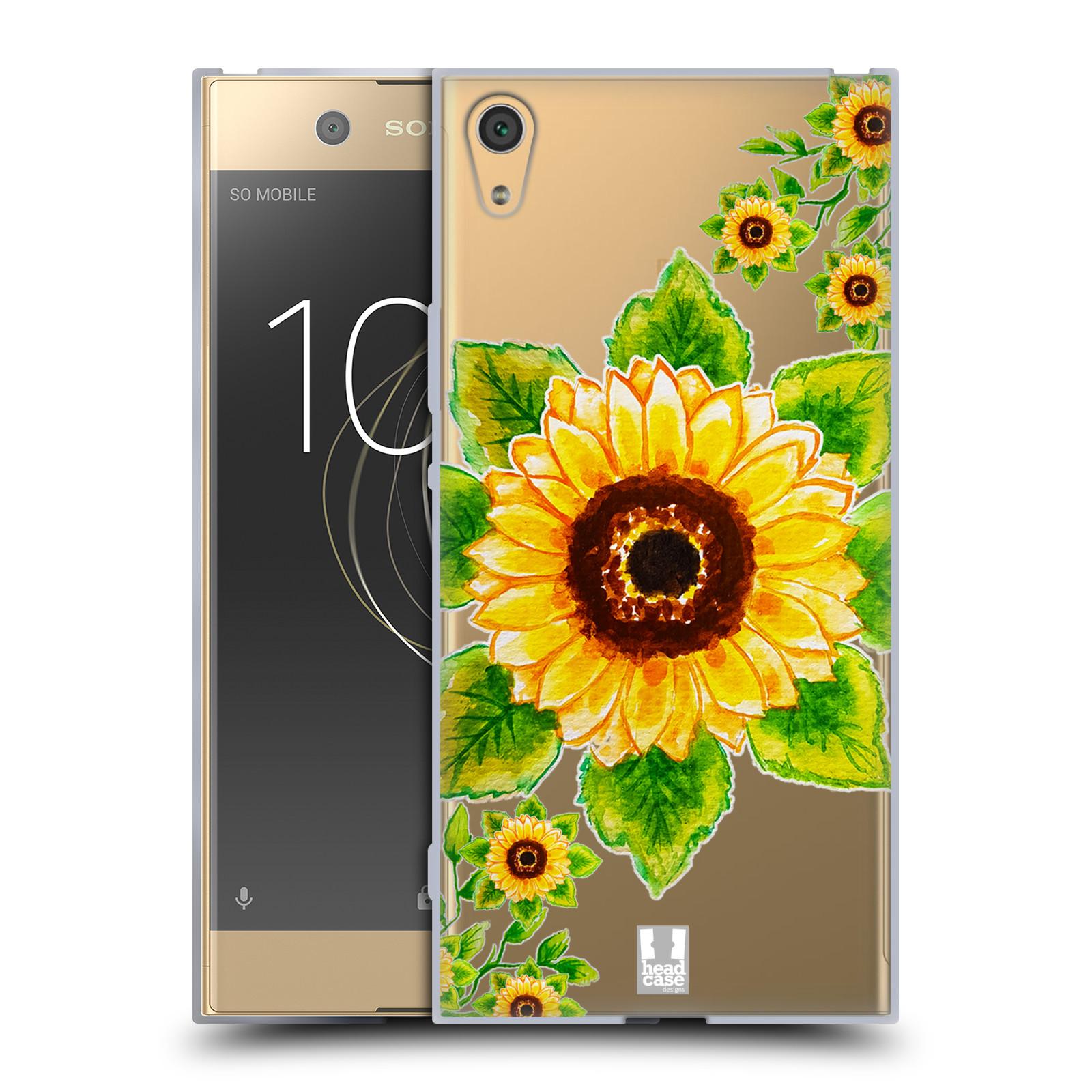 HEAD CASE silikonový obal na mobil Sony Xperia XA1 ULTRA Květina Slunečnice vodní barvy