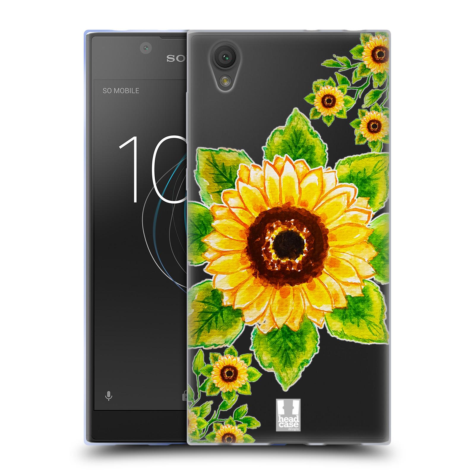 HEAD CASE silikonový obal na mobil Sony Xperia L1 Květina Slunečnice vodní barvy