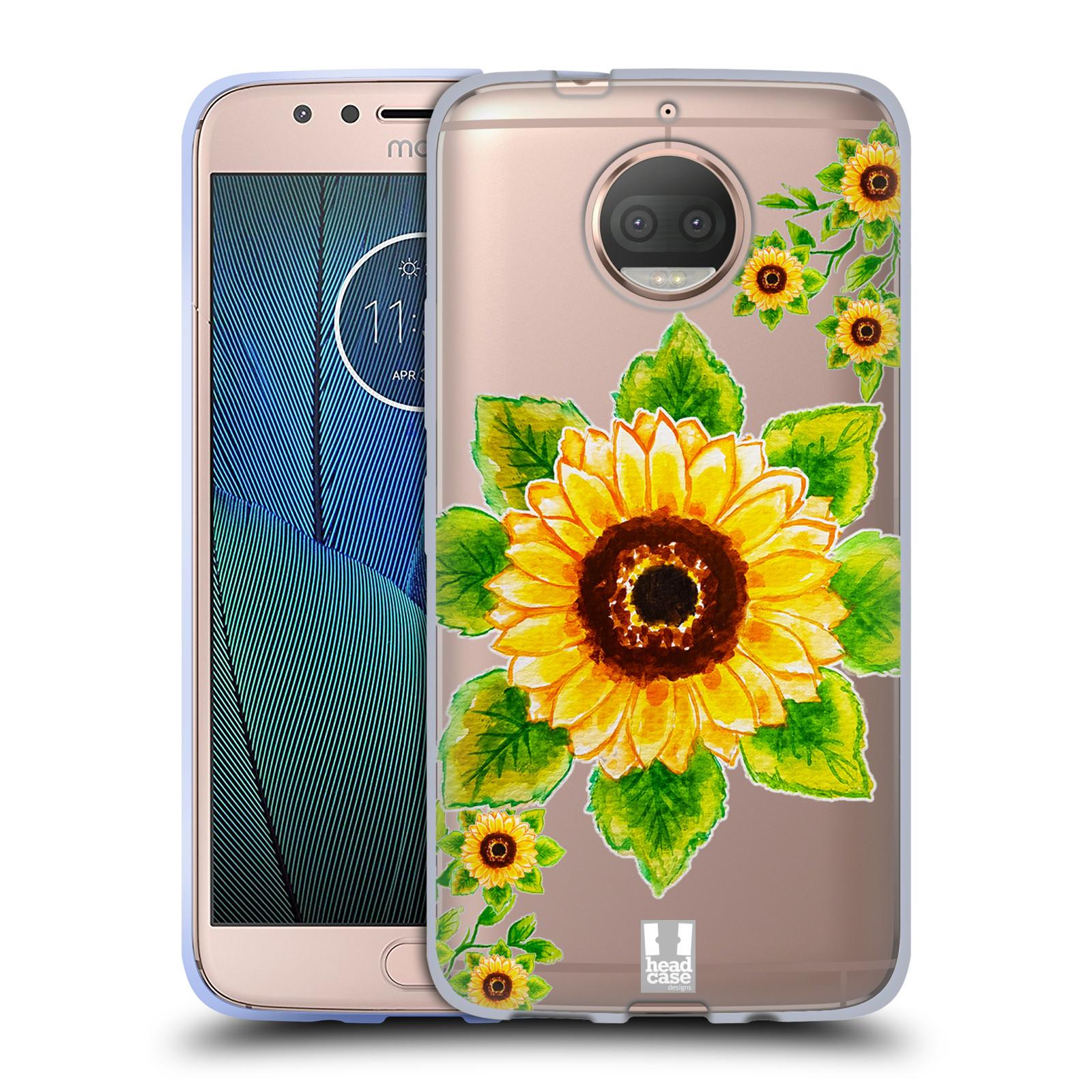 HEAD CASE silikonový obal na mobil Lenovo Moto G5s PLUS Květina Slunečnice vodní barvy
