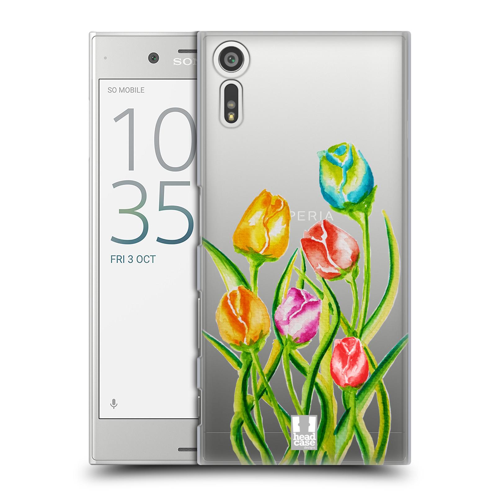 HEAD CASE plastový obal na mobil Sony Xperia XZ Květina Tulipán vodní barvy
