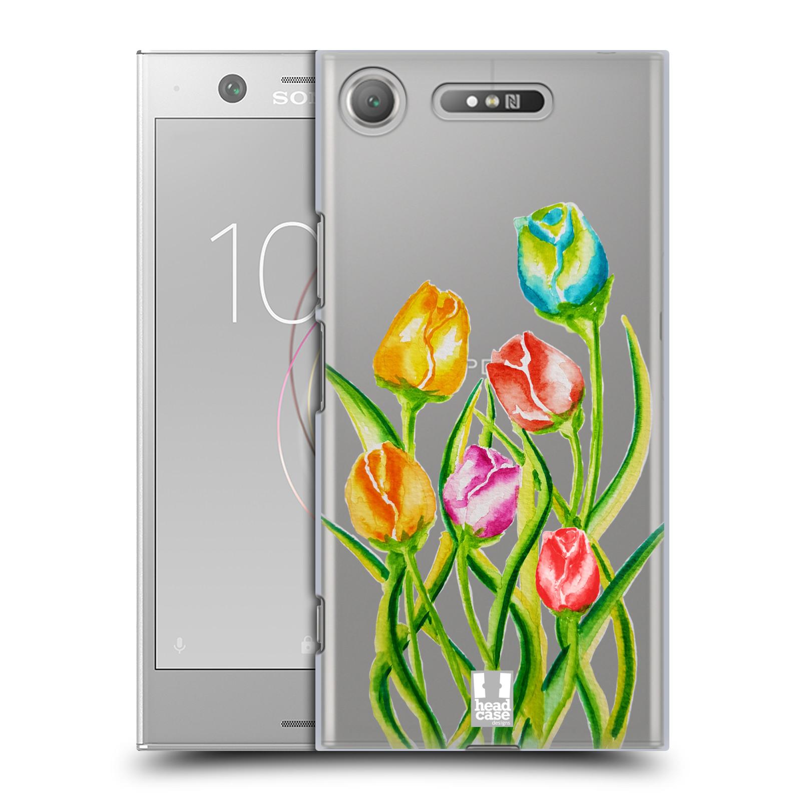 HEAD CASE plastový obal na mobil Sony Xperia XZ1 Květina Tulipán vodní barvy