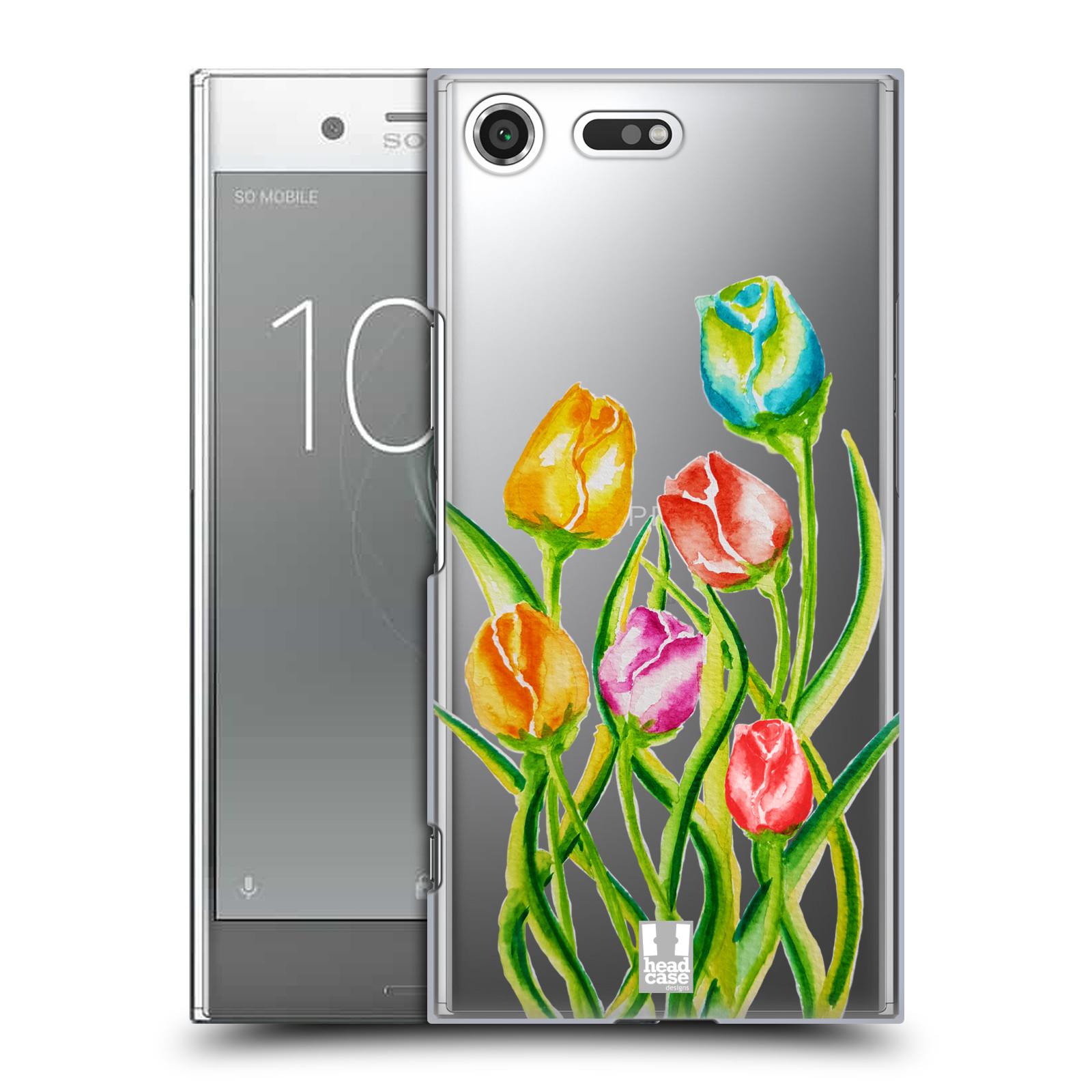 HEAD CASE plastový obal na mobil Sony Xperia XZ PREMIUM Květina Tulipán vodní barvy