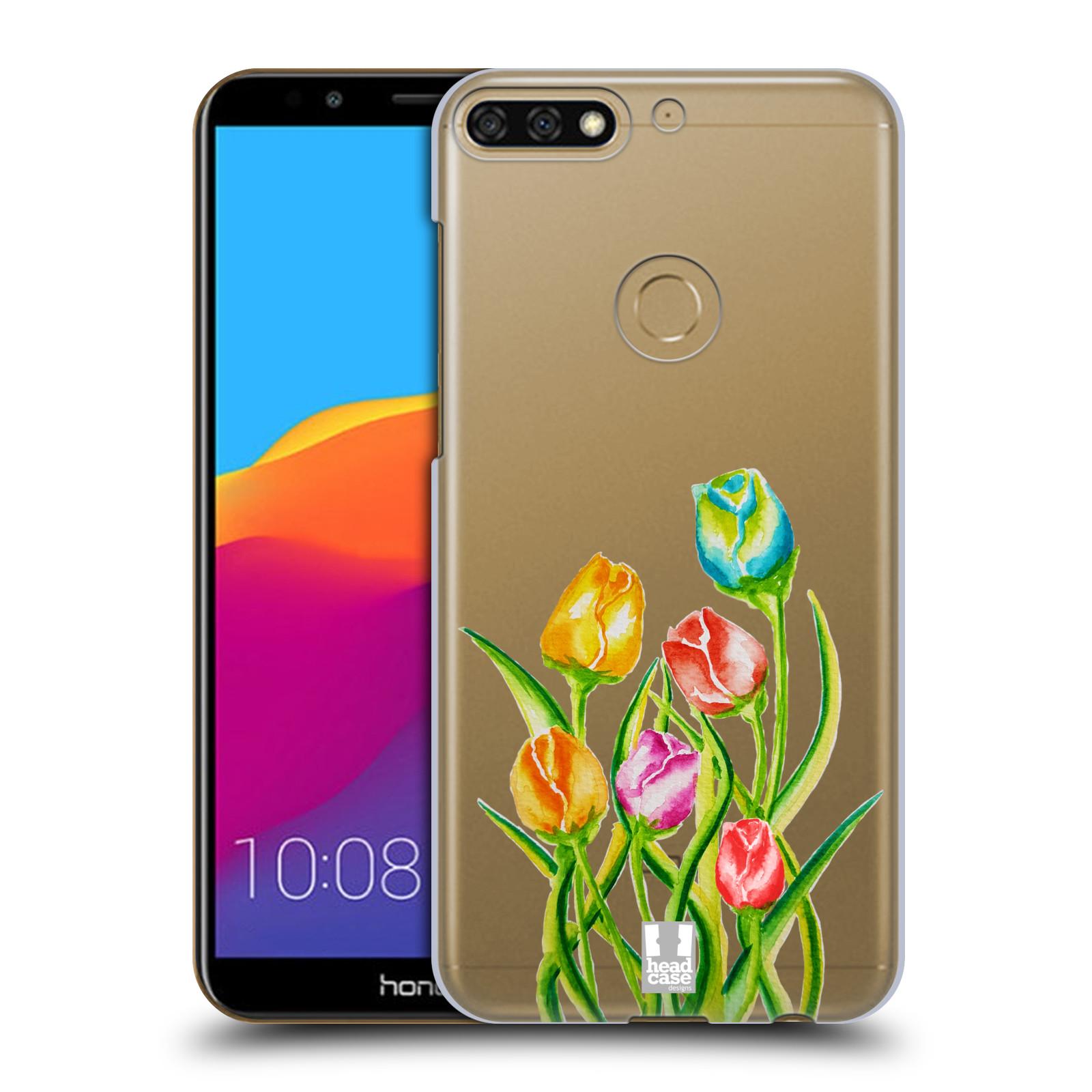 HEAD CASE plastový obal na mobil Honor 7c Květina Tulipán vodní barvy