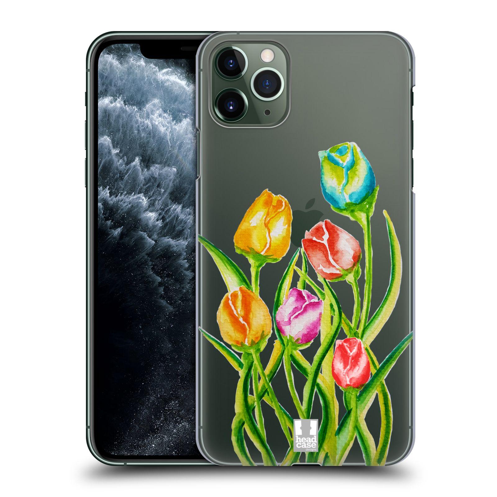 Pouzdro na mobil Apple Iphone 11 PRO MAX - HEAD CASE - Květina Tulipán vodní barvy