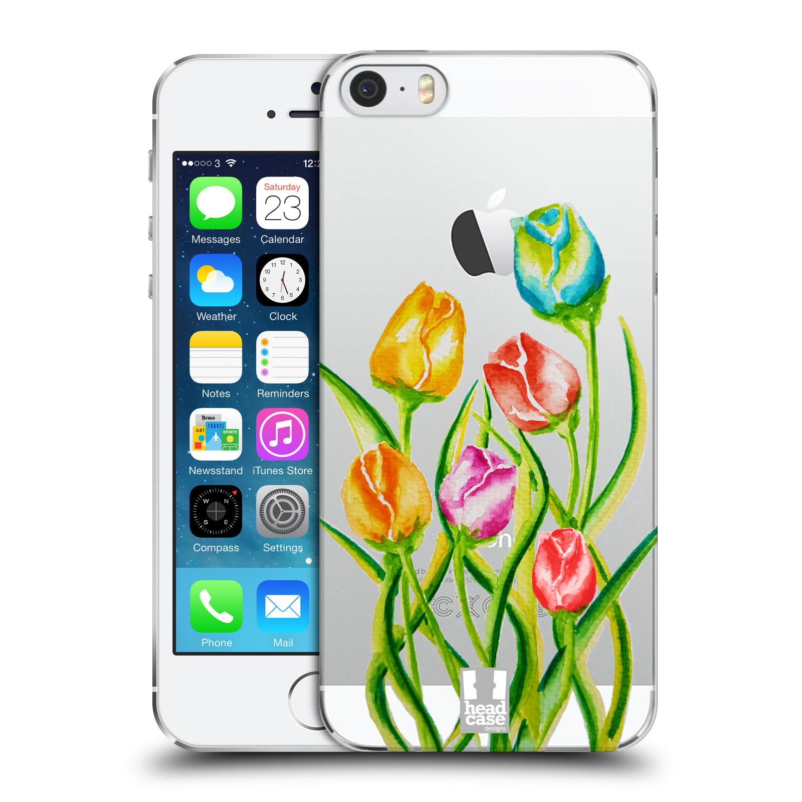 Plastové pouzdro pro mobil Apple Iphone 5 / 5S / SE Květina Tulipán vodní barvy