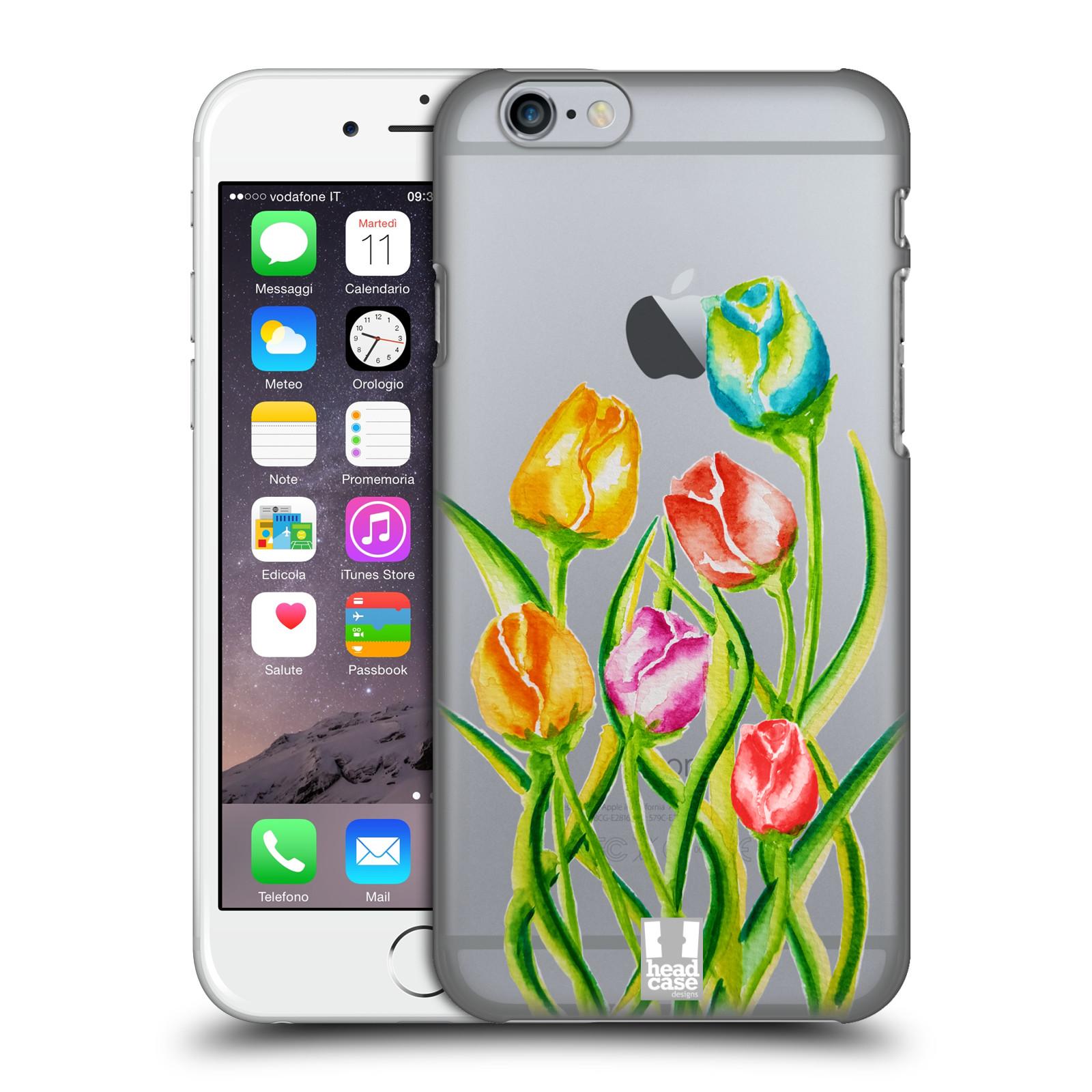 Plastové pouzdro pro mobil Apple Iphone 6/6S Květina Tulipán vodní barvy