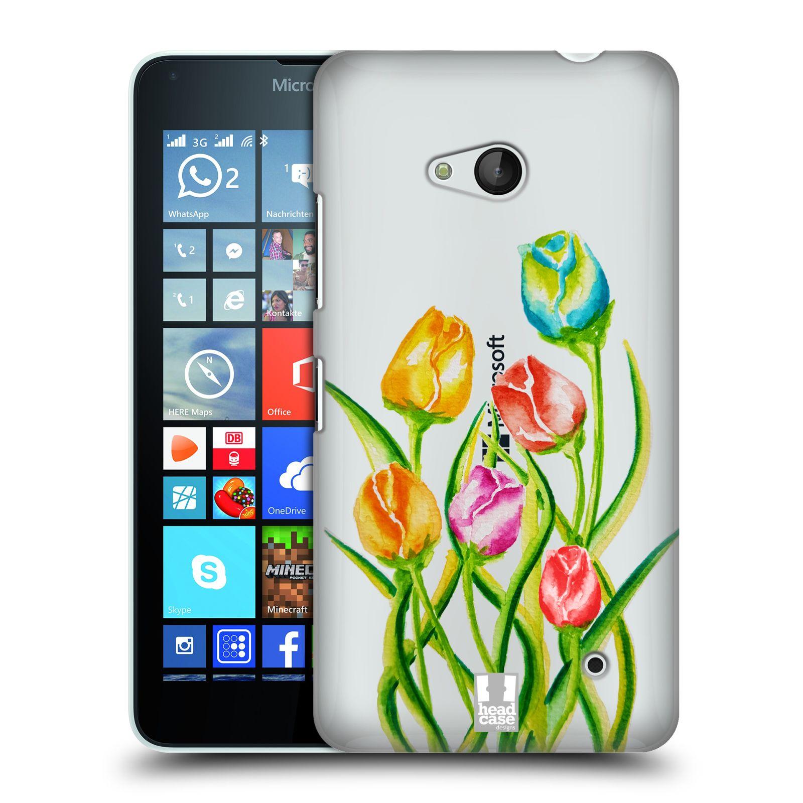 HEAD CASE plastový obal na mobil Nokia Lumia 640 Květina Tulipán vodní barvy