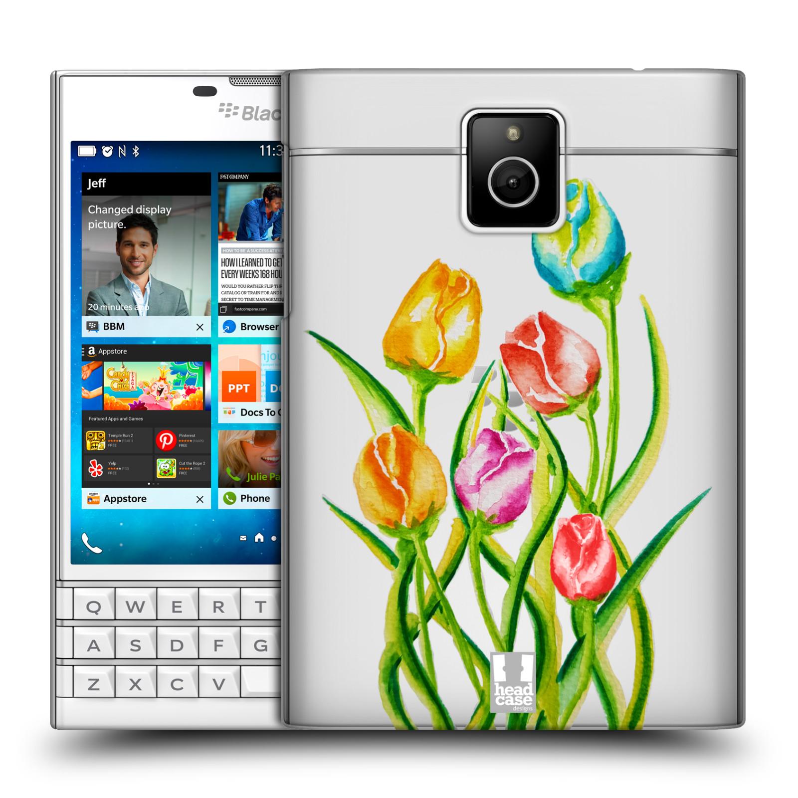 HEAD CASE plastový obal na mobil BlackBerry Passport Květina Tulipán vodní barvy