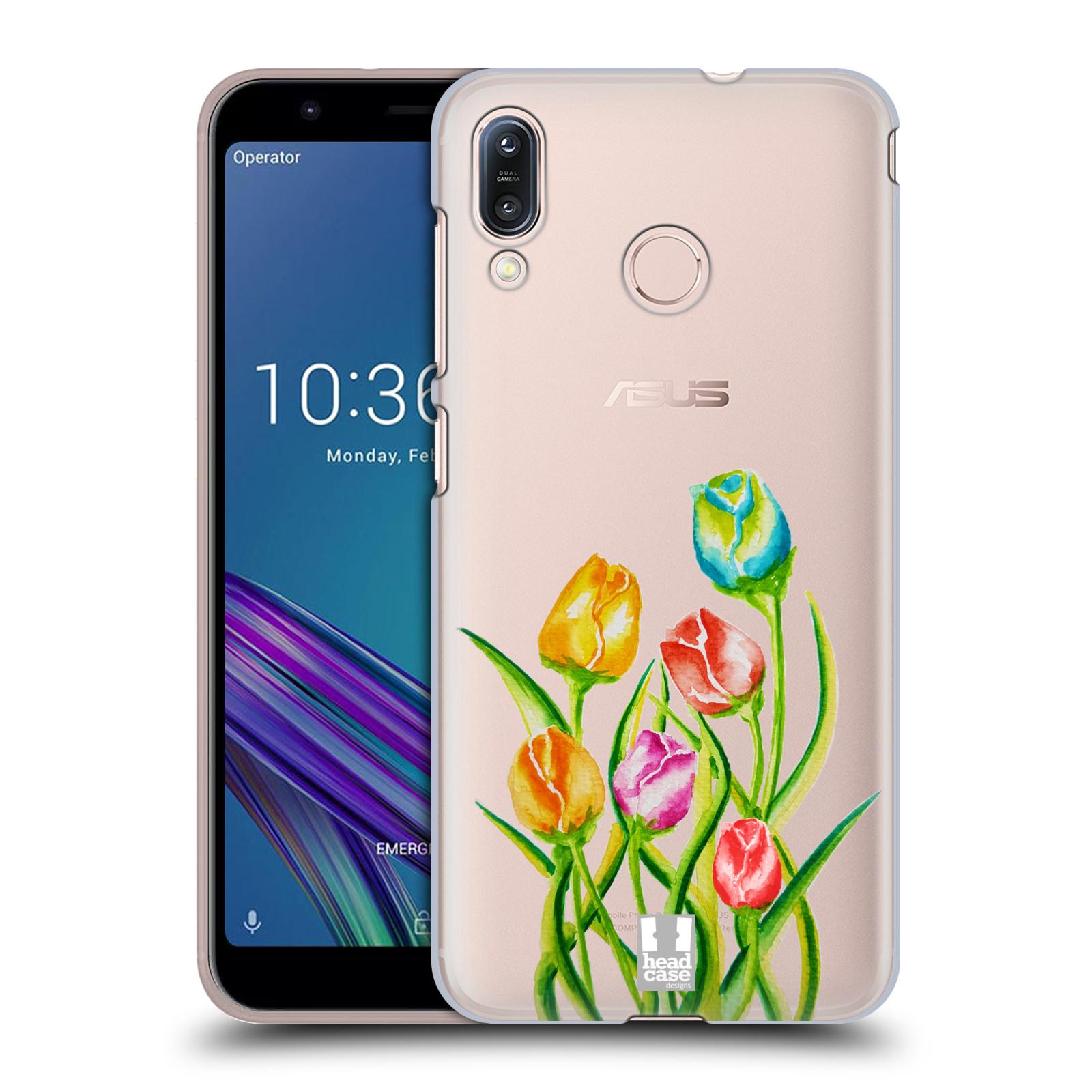 Pouzdro na mobil Asus Zenfone Max M1 (ZB555KL) - HEAD CASE - Květina Tulipán vodní barvy