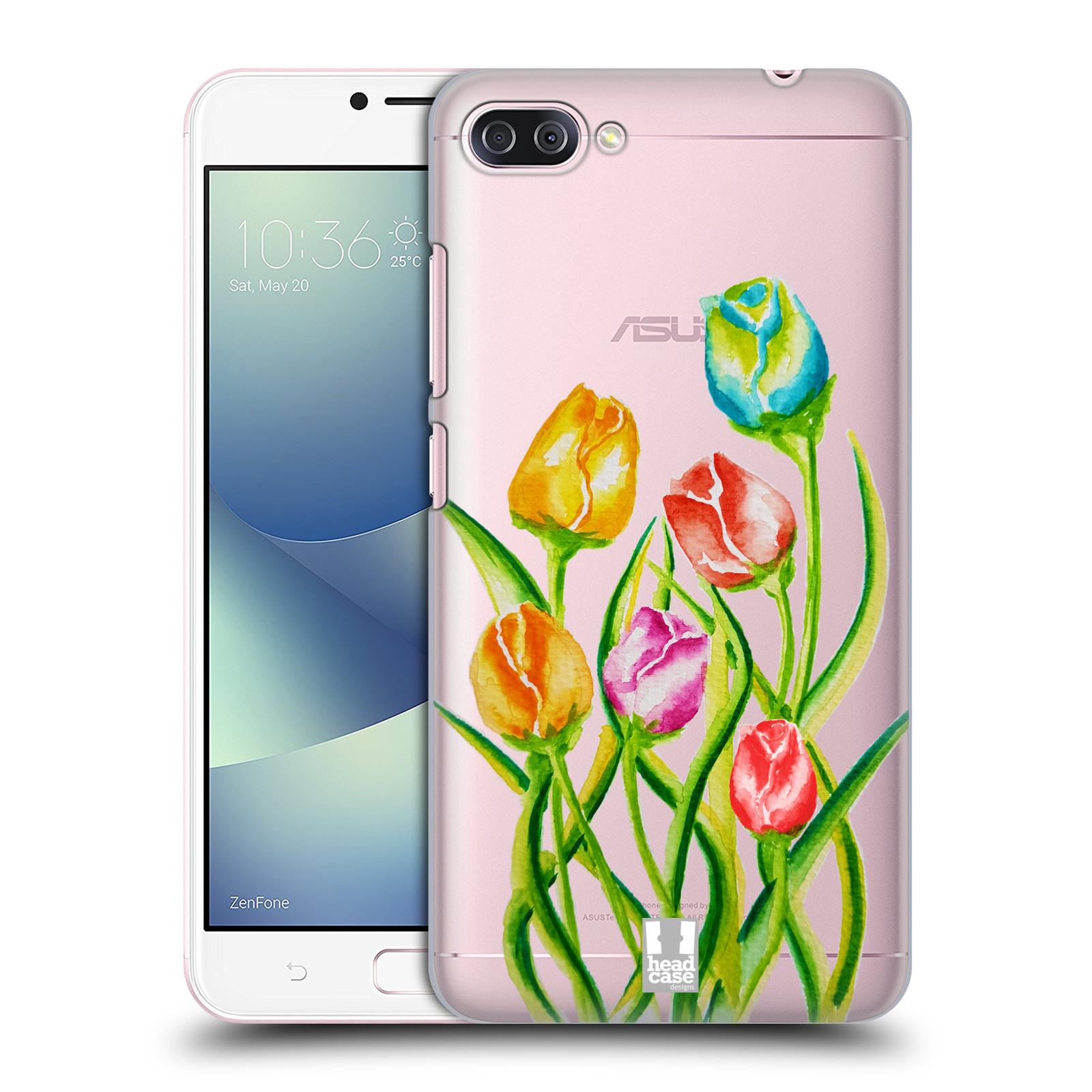 HEAD CASE plastový obal na mobil Asus Zenfone 4 MAX ZC554KL Květina Tulipán vodní barvy
