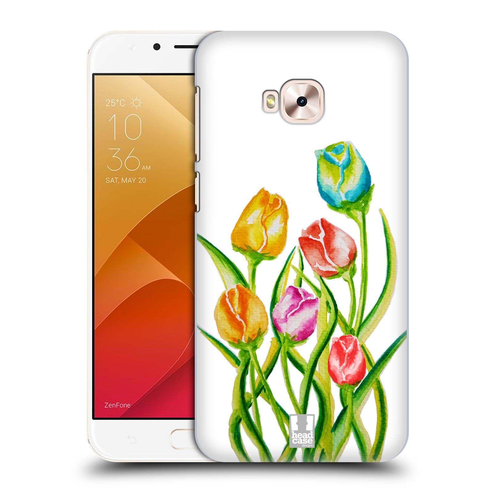 HEAD CASE plastový obal na mobil Asus Zenfone 4 Selfie Pro ZD552KL Květina Tulipán vodní barvy