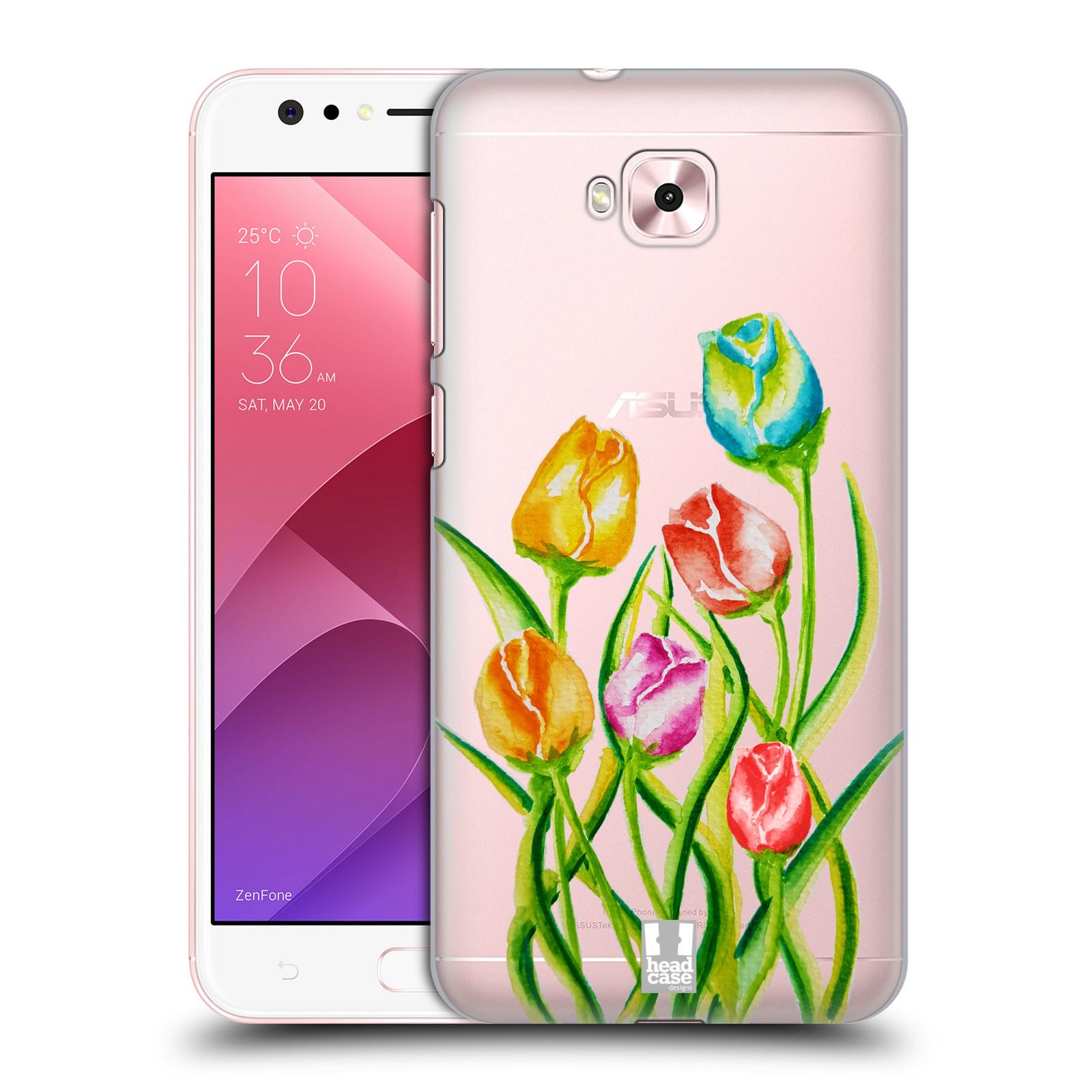 HEAD CASE plastový obal na mobil Asus Zenfone 4 Selfie ZD553KL Květina Tulipán vodní barvy
