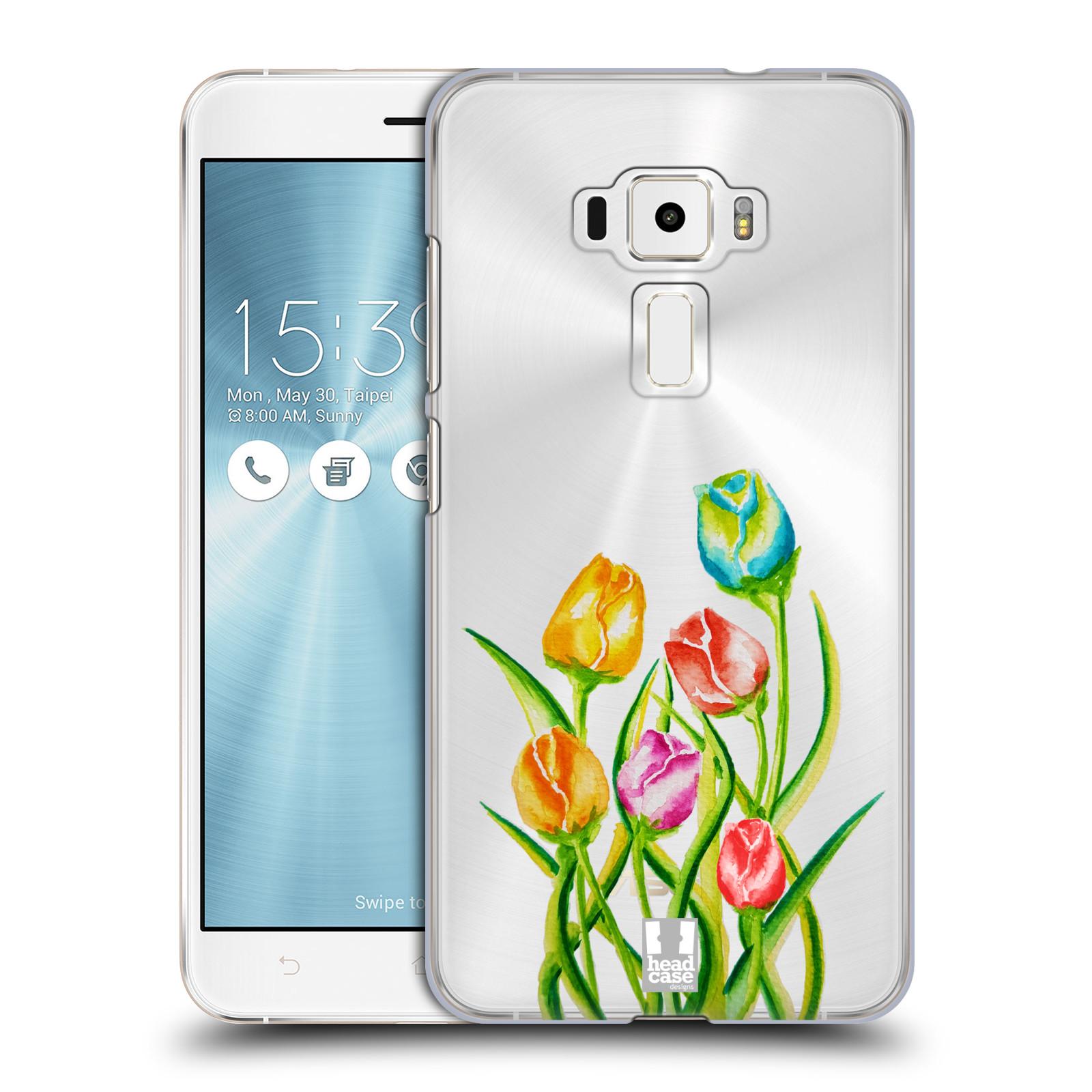 HEAD CASE plastový obal na mobil Asus Zenfone 3 ZE552KL Květina Tulipán vodní barvy