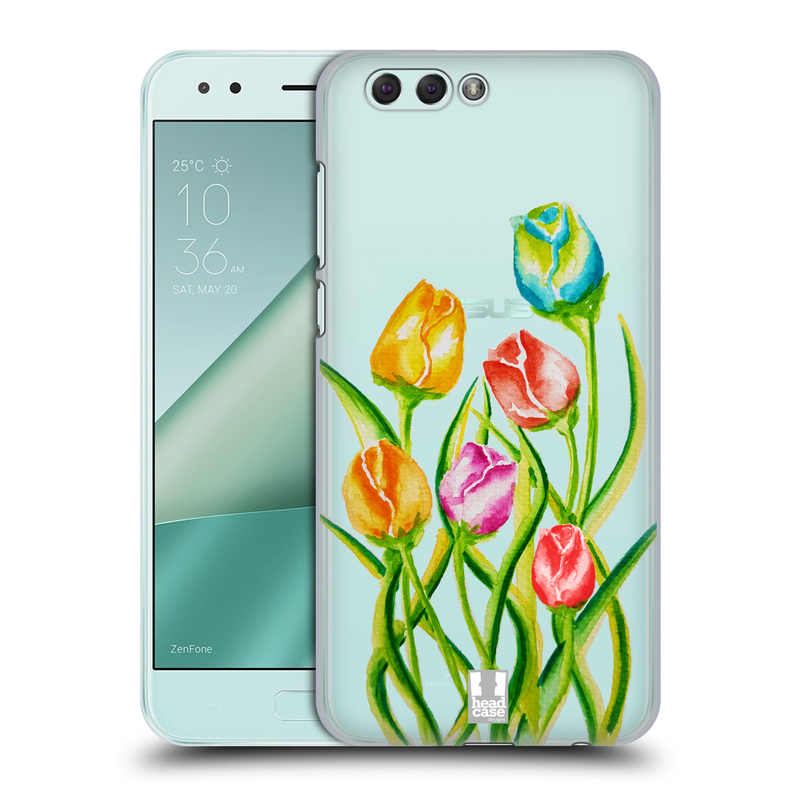 HEAD CASE plastový obal na mobil Asus Zenfone 4 ZE554KL Květina Tulipán vodní barvy