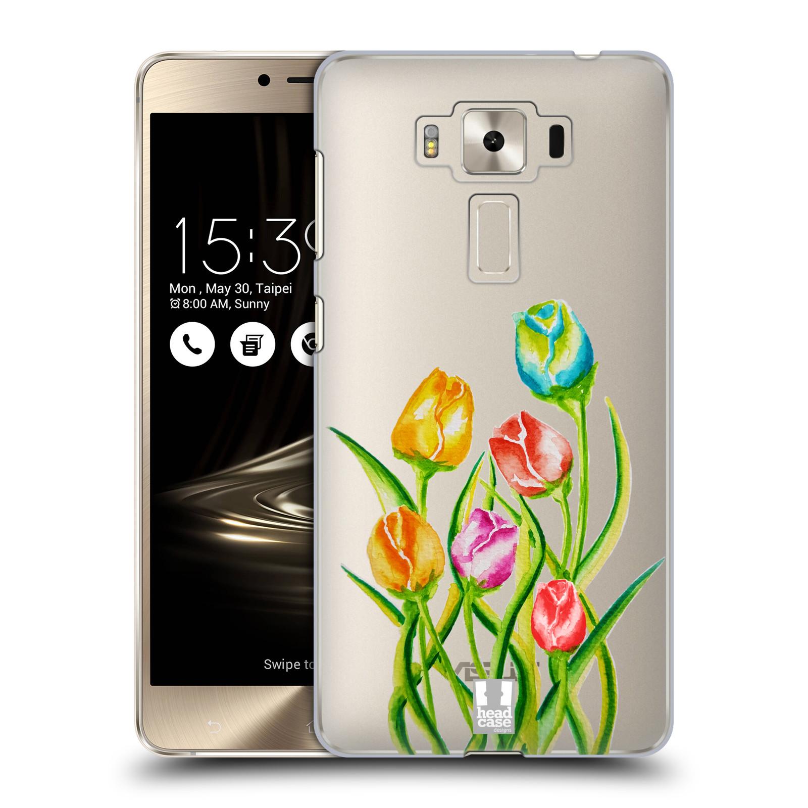 HEAD CASE plastový obal na mobil Asus Zenfone 3 DELUXE ZS550KL Květina Tulipán vodní barvy