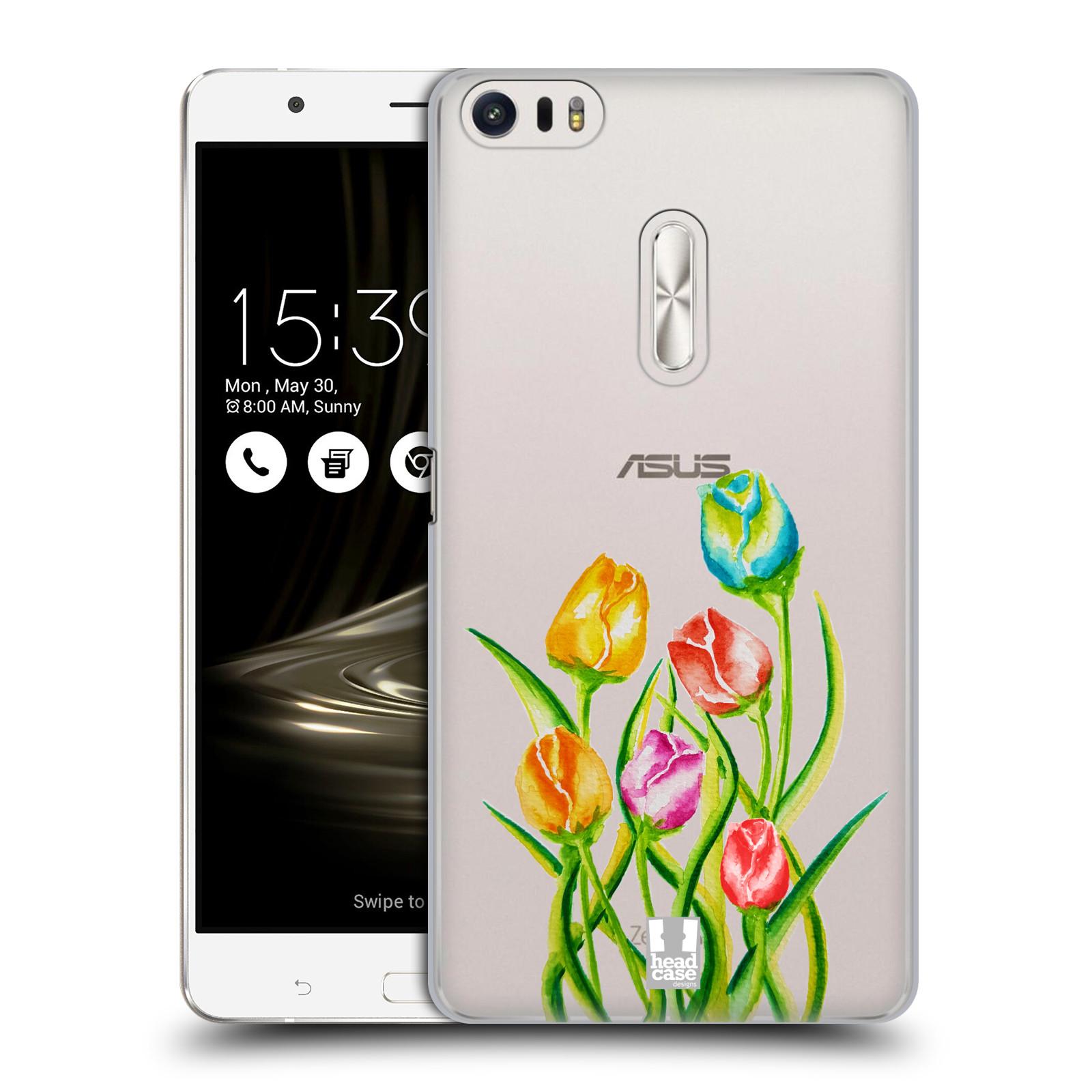 HEAD CASE plastový obal na mobil Asus Zenfone 3 Ultra ZU680KL Květina Tulipán vodní barvy