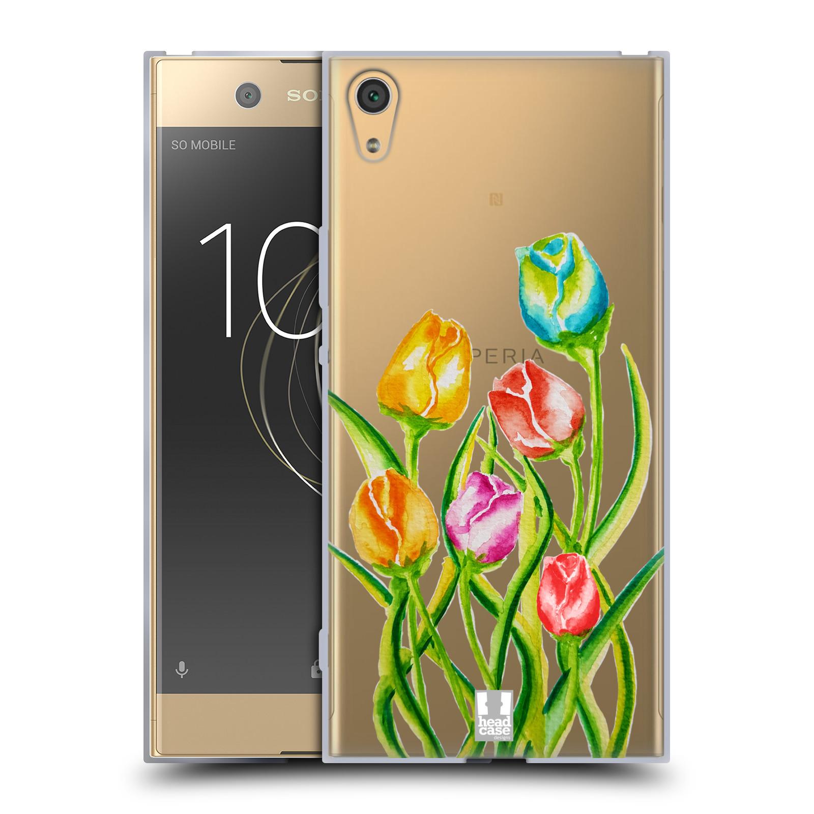 HEAD CASE silikonový obal na mobil Sony Xperia XA1 ULTRA Květina Tulipán vodní barvy