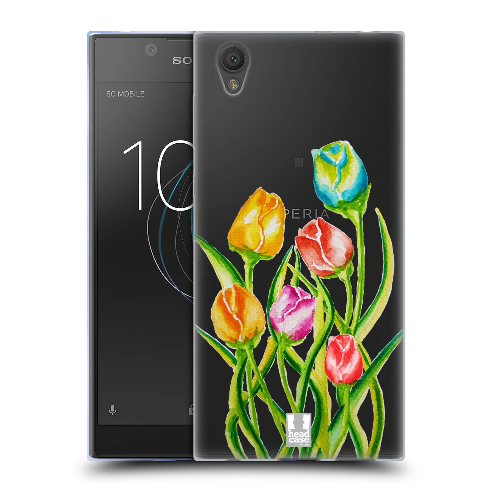 HEAD CASE silikonový obal na mobil Sony Xperia L1 Květina Tulipán vodní barvy