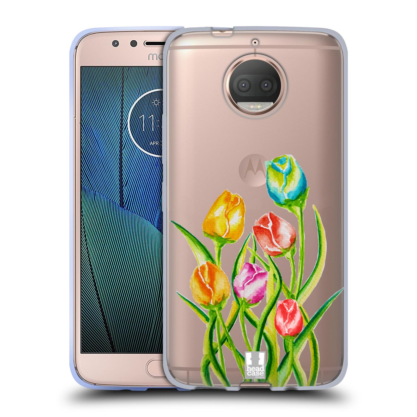 HEAD CASE silikonový obal na mobil Lenovo Moto G5s PLUS Květina Tulipán vodní barvy