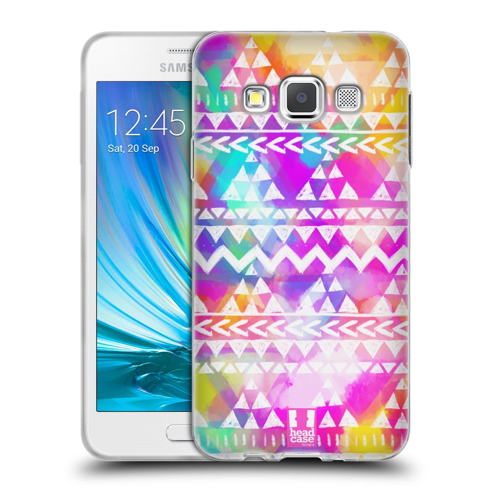 708cb2c20 HEAD CASE silikonový obal na mobil Samsung Galaxy A3 vzor CIK CAK barevné  znaky ZÁŘIVA RŮŽOVÁ empty