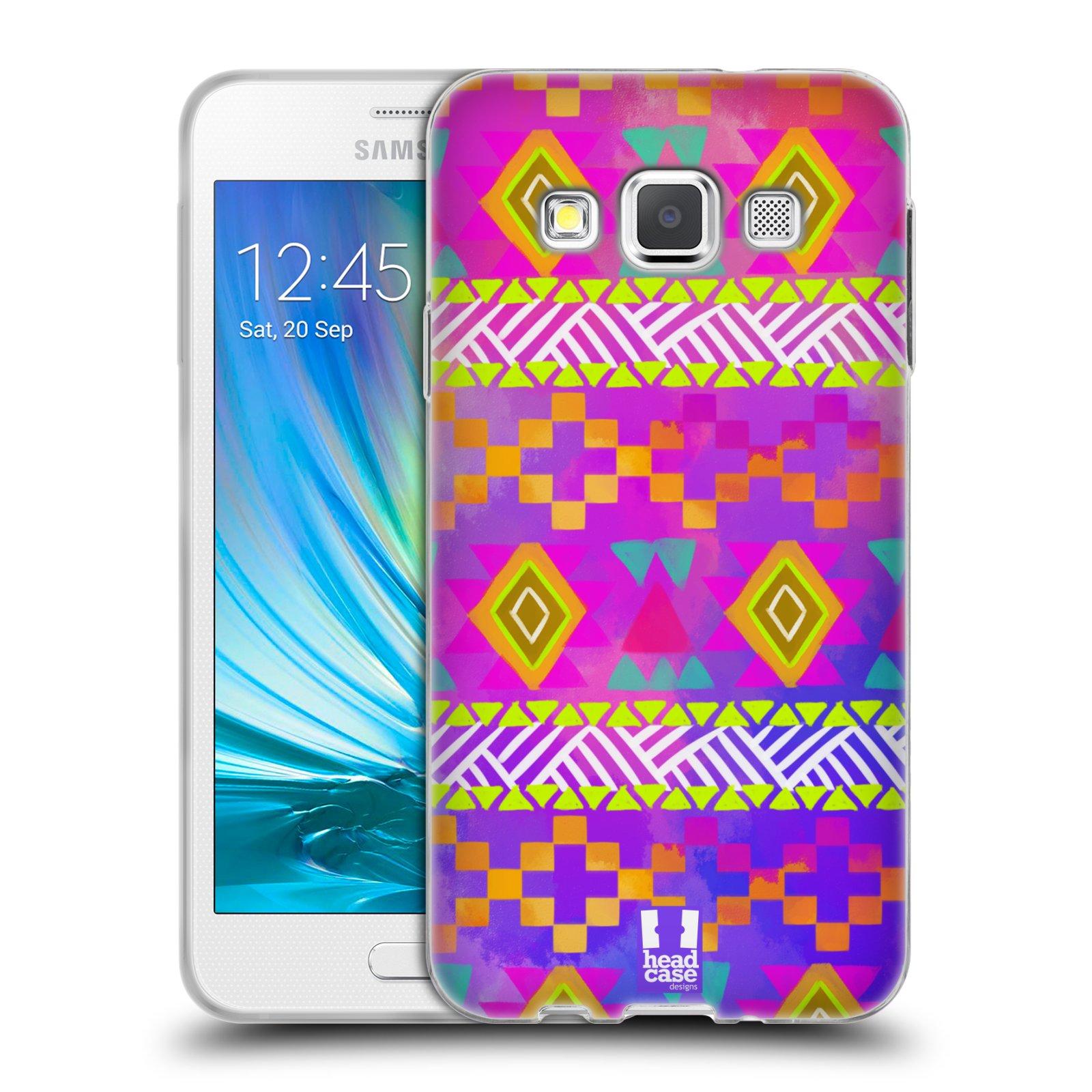e1ea1d946 HEAD CASE silikonový obal na mobil Samsung Galaxy A3 vzor CIK CAK barevné  znaky fuchsie empty