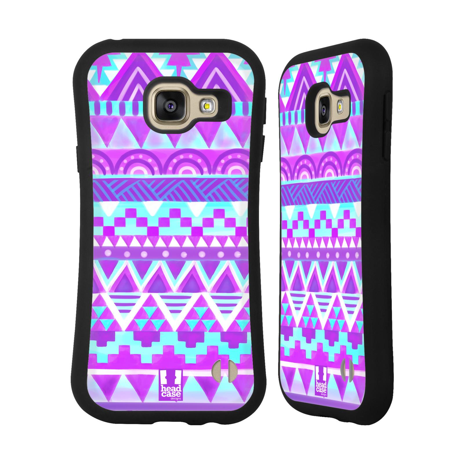 1a7744872 HEAD CASE silikon/plast odolný obal na mobil Samsung Galaxy A3 2016 vzor CIK  CAK barevné znaky FIALOVÉ NEBE