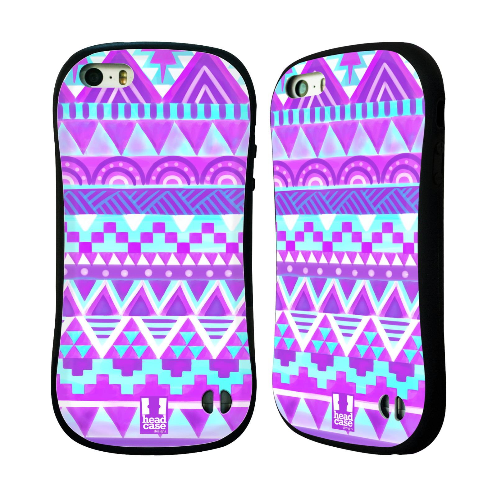 HEAD CASE silikon plast odolný obal na mobil Apple Iphone 5 5S vzor CIK CAK  barevné znaky FIALOVÉ NEBE 51ee987d082