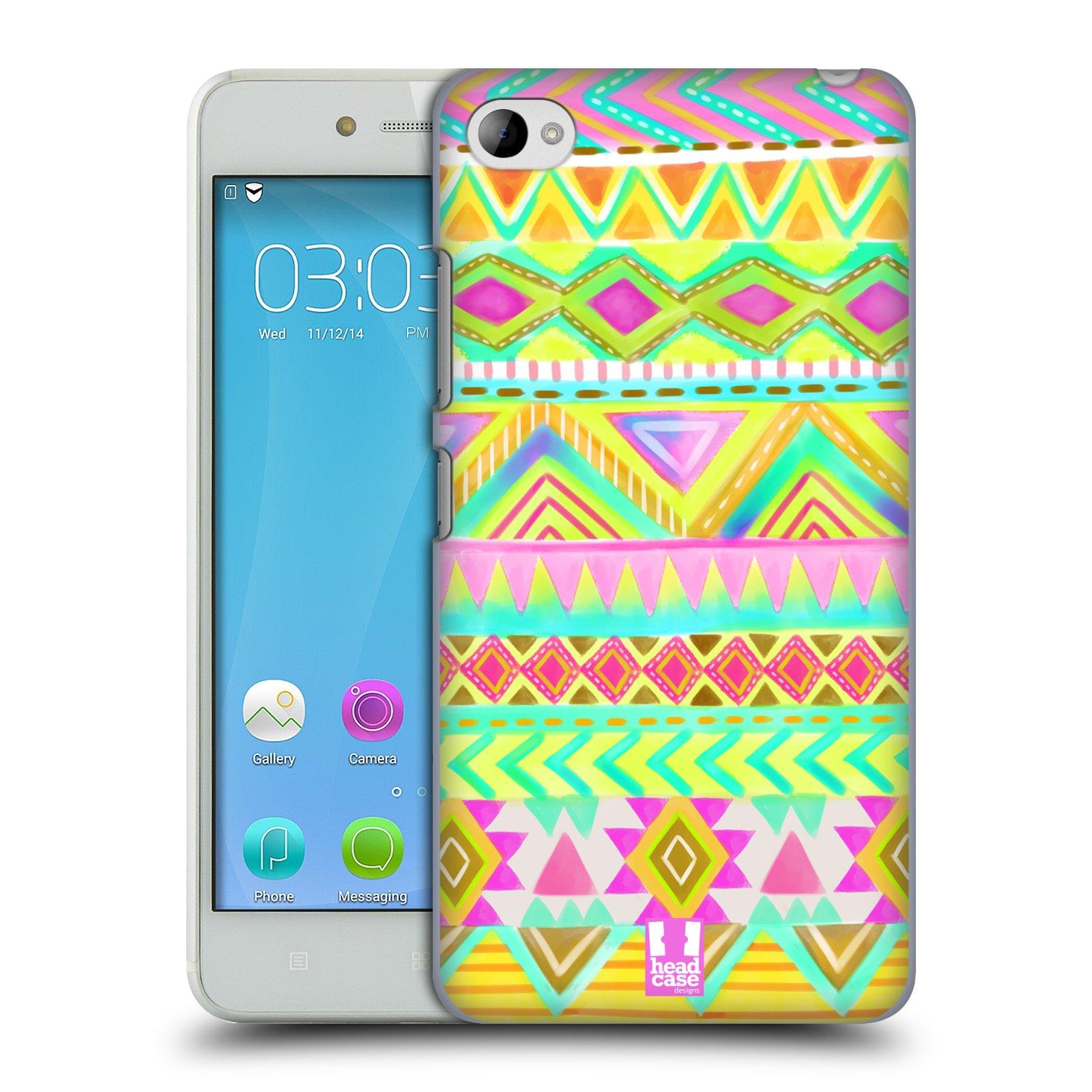 HEAD CASE pevný plastový obal na mobil LENOVO S90 vzor CIK CAK barevné znaky VÝCHOD SLUNCE